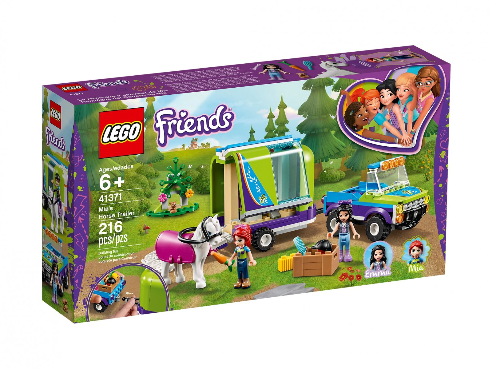 Lego 41371 Friends Przyczepa Dla Konia Mii Zklockow Pl