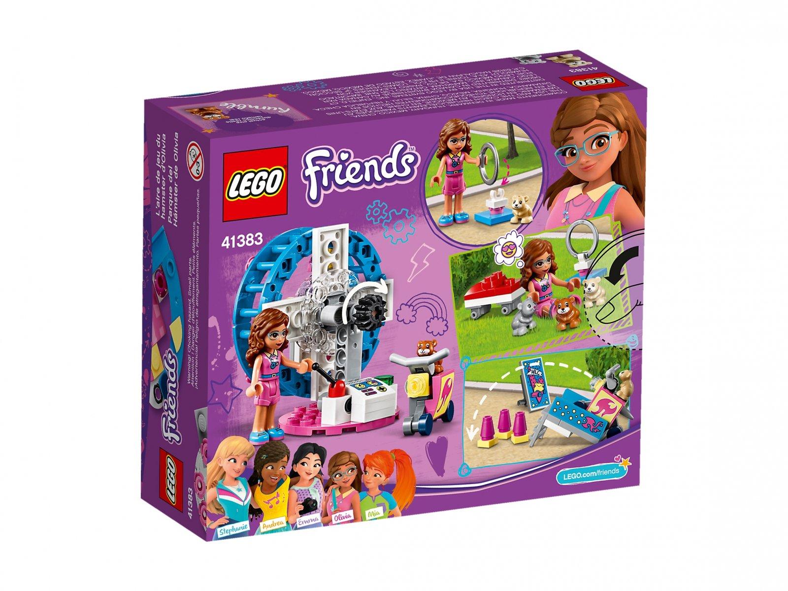 LEGO 41383 Friends Plac zabaw dla chomików Olivii