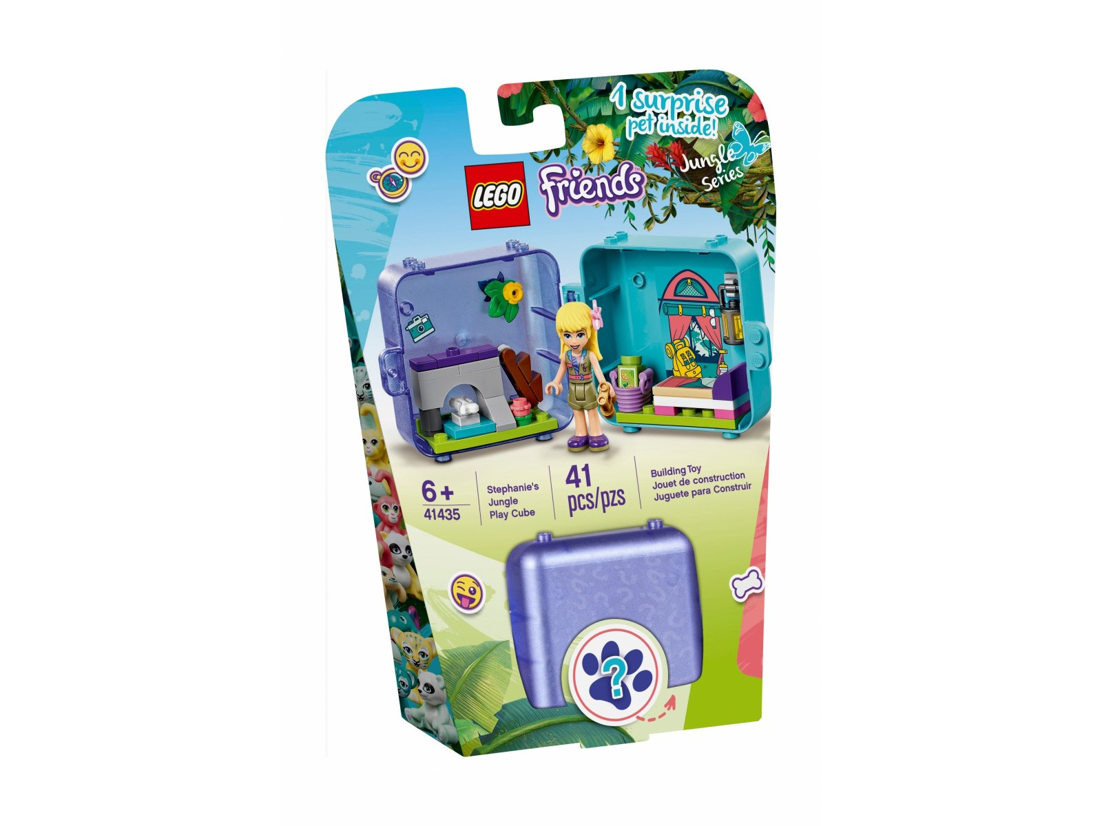 LEGO 41435 Dżunglowa kostka do zabawy Stephanie