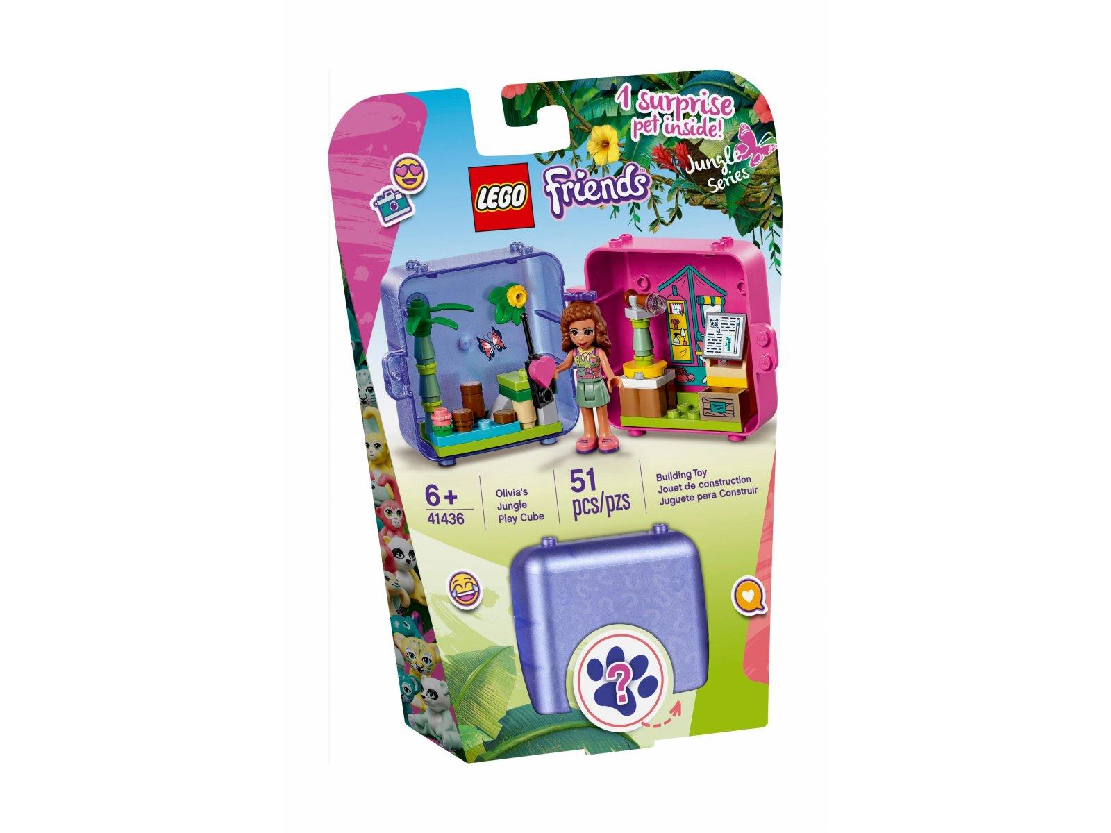 LEGO 41436 Dżunglowa kostka do zabawy Olivii