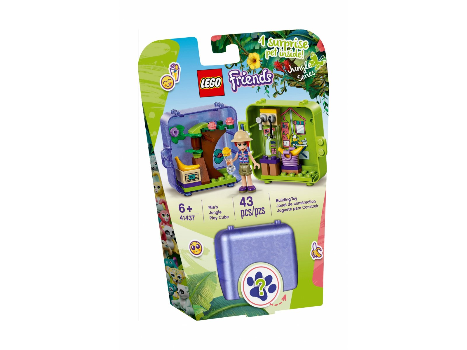LEGO 41437 Friends Dżunglowa kostka do zabawy Mii
