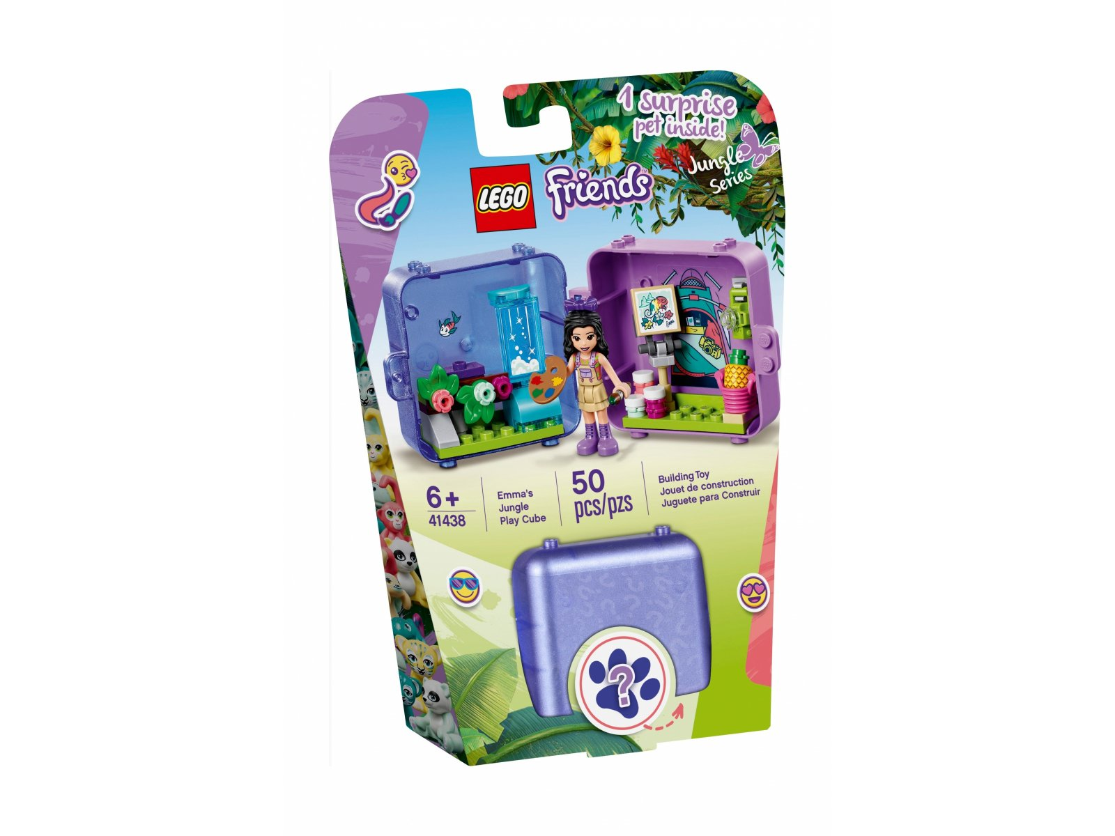 LEGO Friends 41438 Dżunglowa kostka do zabawy Emmy