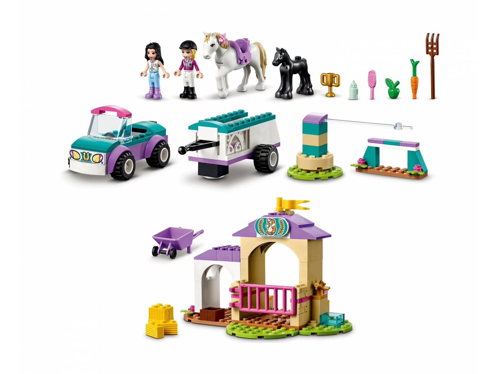 LEGO 41441 Friends Szkółka jeździecka i przyczepa dla konia