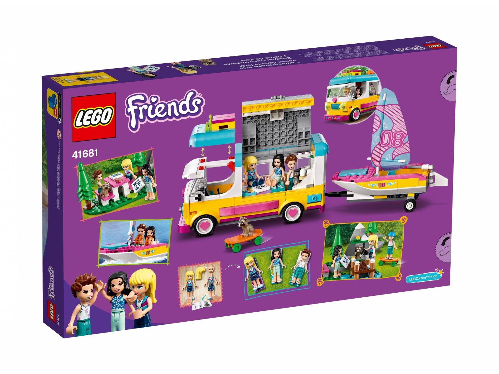 LEGO 41681 Leśny mikrobus kempingowy i żaglówka