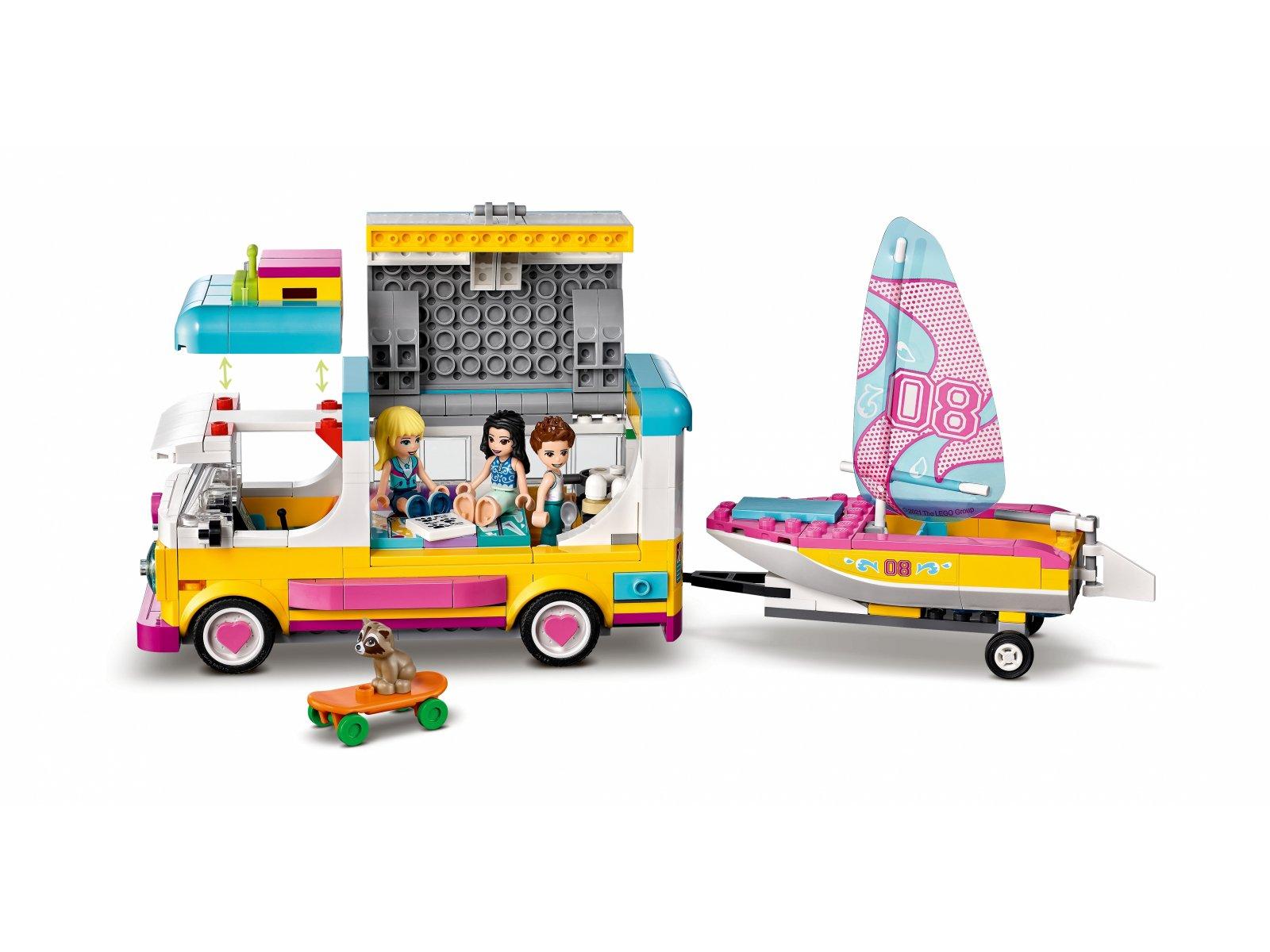 LEGO Friends 41681 Leśny mikrobus kempingowy i żaglówka