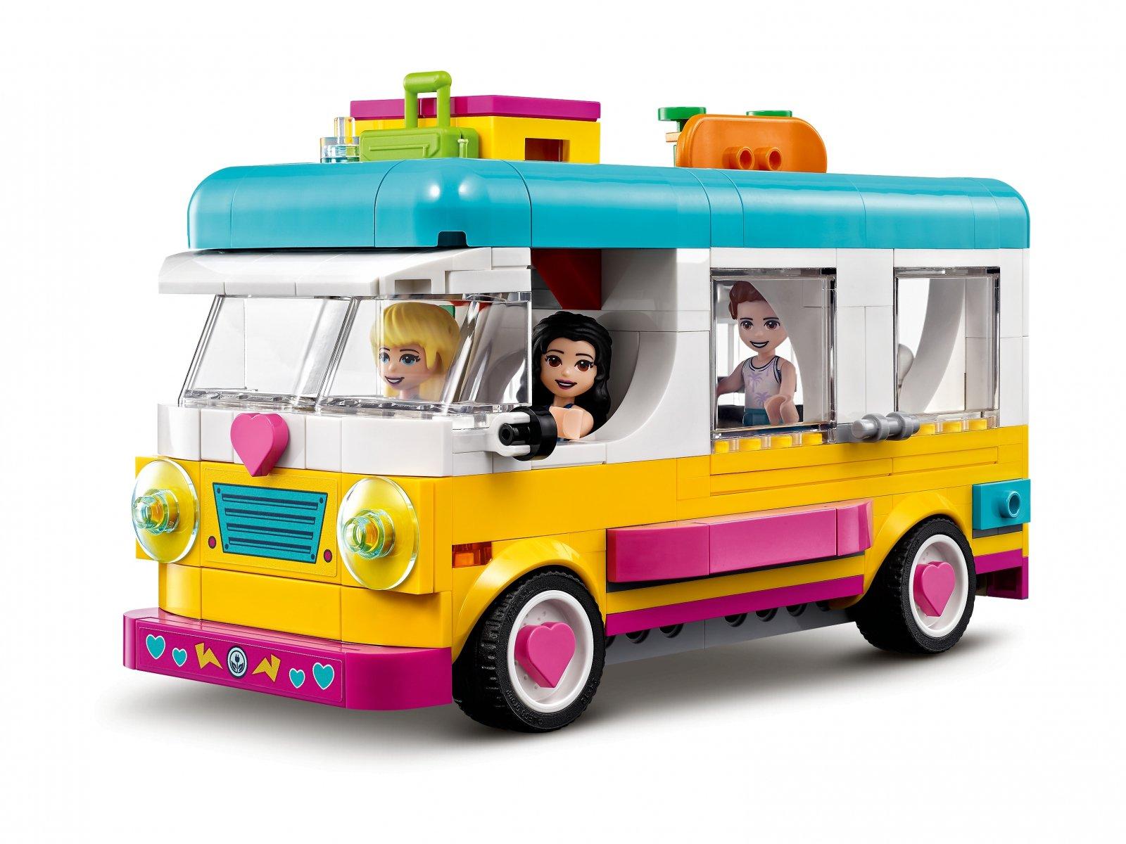 LEGO 41681 Friends Leśny mikrobus kempingowy i żaglówka