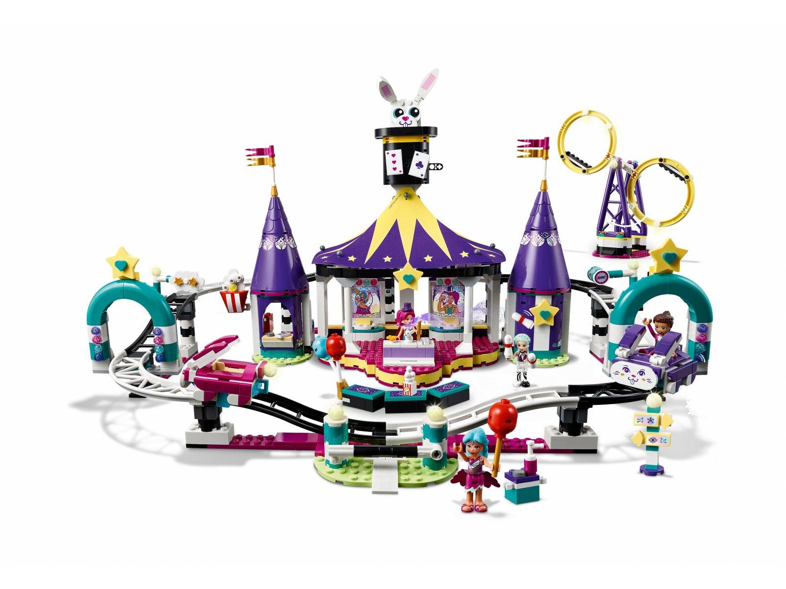 LEGO 41685 Friends Magiczne wesołe miasteczko z kolejką górską
