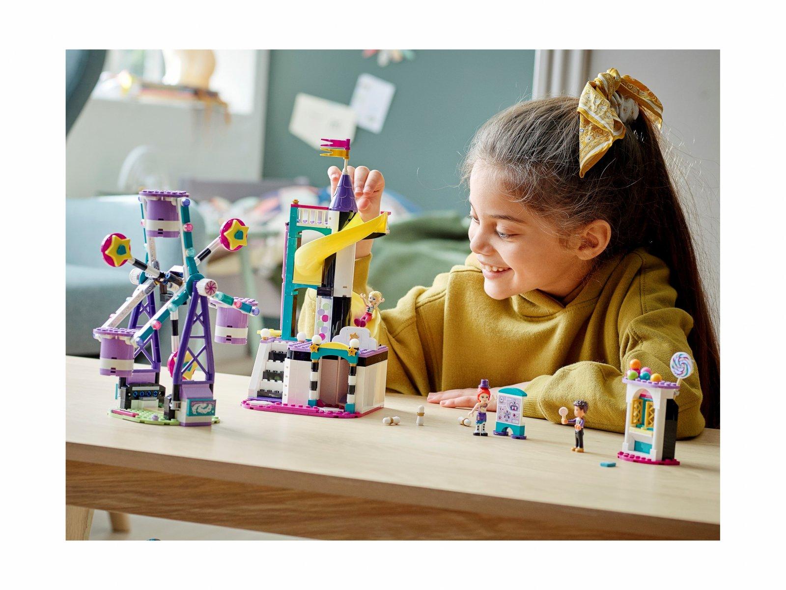 LEGO 41689 Friends Magiczny diabelski młyn i zjeżdżalnia