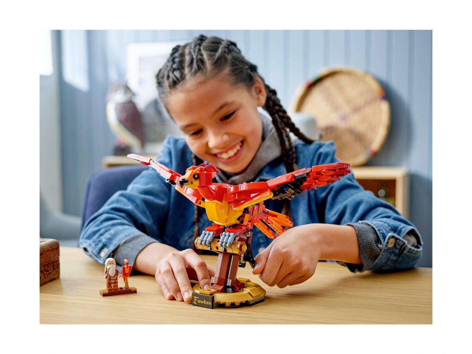 LEGO 76394 Harry Potter Fawkes, feniks Dumbledore'a