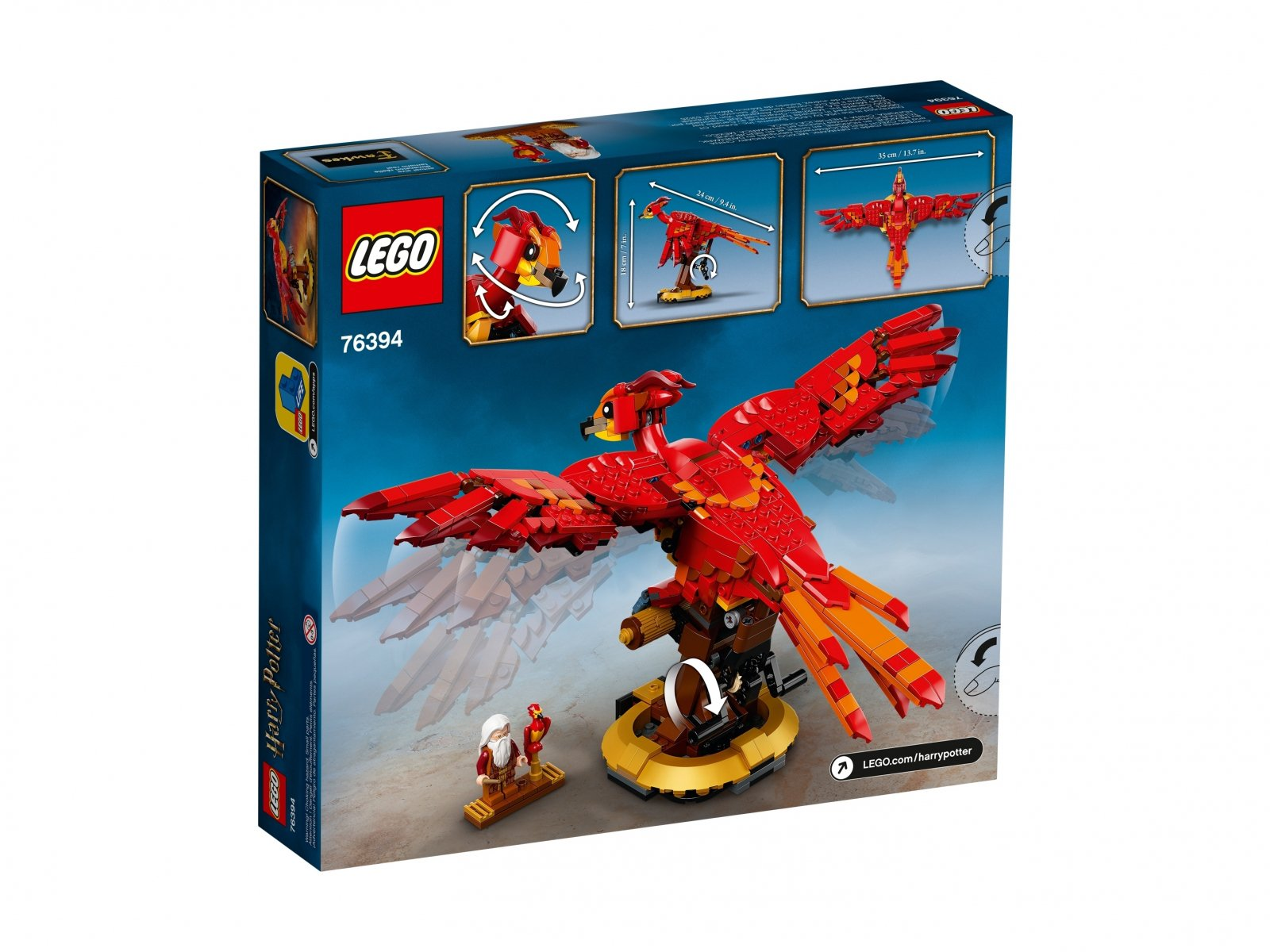 LEGO Harry Potter 76394 Fawkes, feniks Dumbledore'a