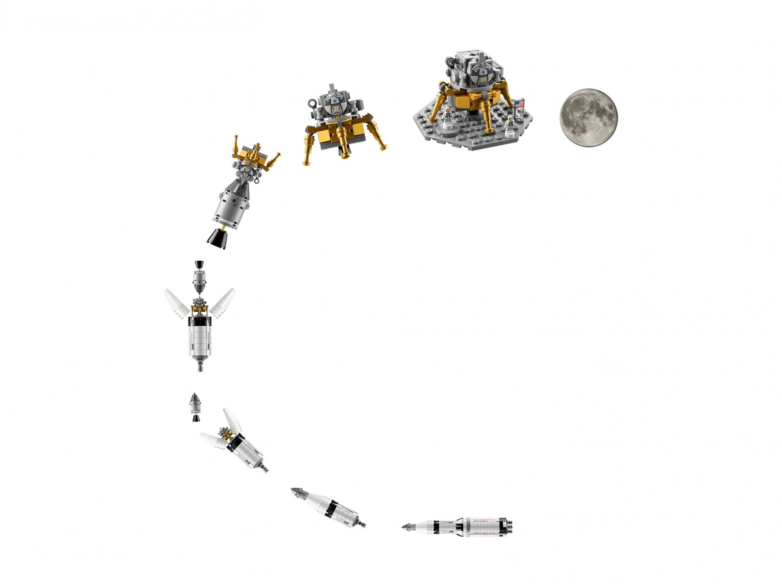 LEGO 92176 Ideas Rakieta NASA Apollo Saturn V