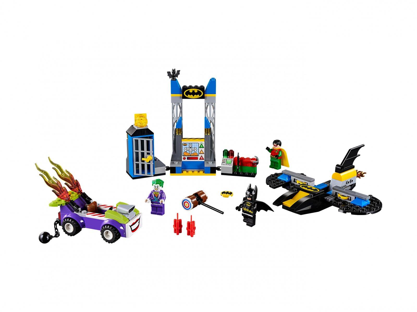 LEGO Juniors Atak Jokera™ na jaskinię Batmana
