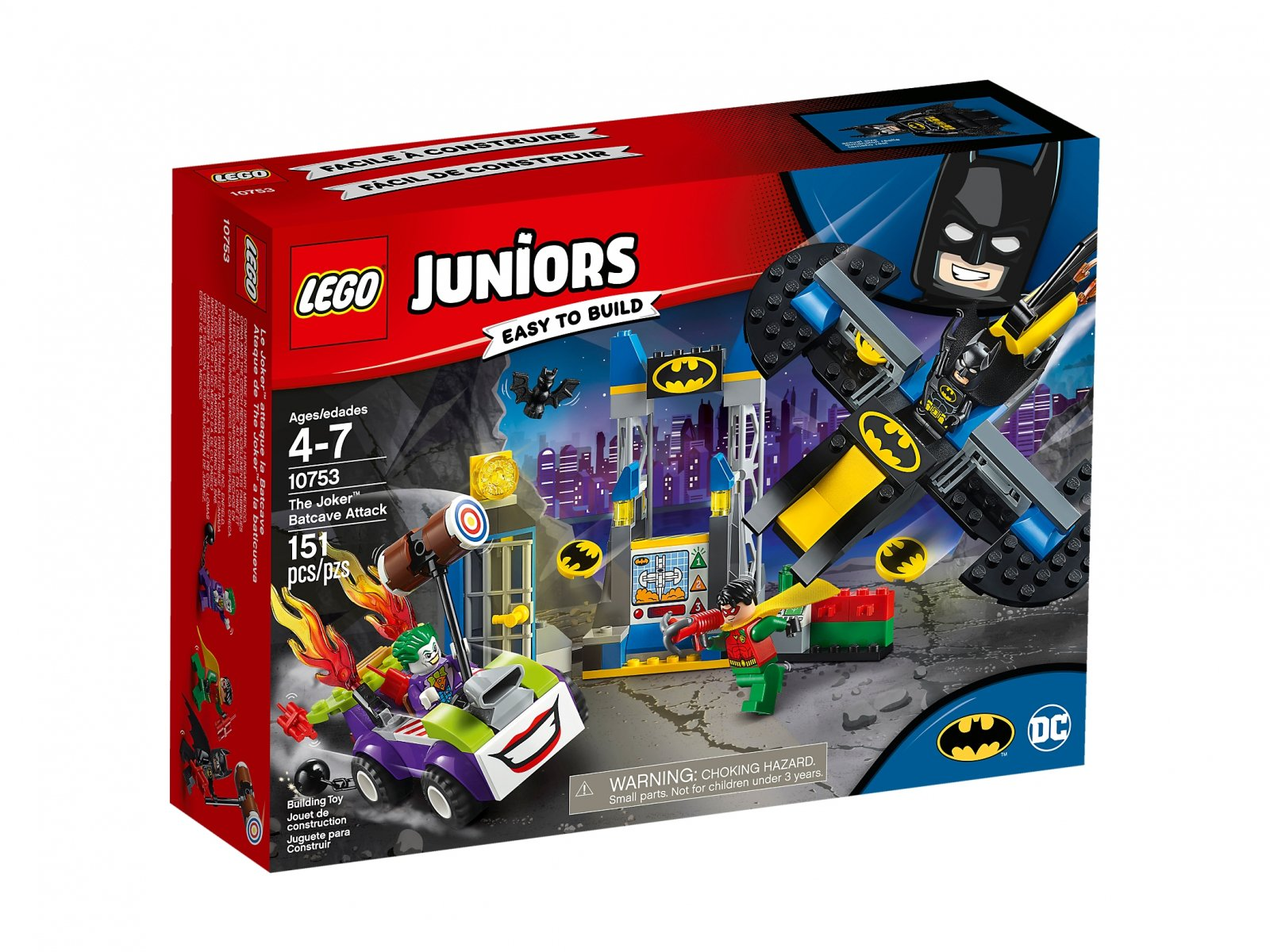 LEGO Juniors 10753 Atak Jokera™ na jaskinię Batmana