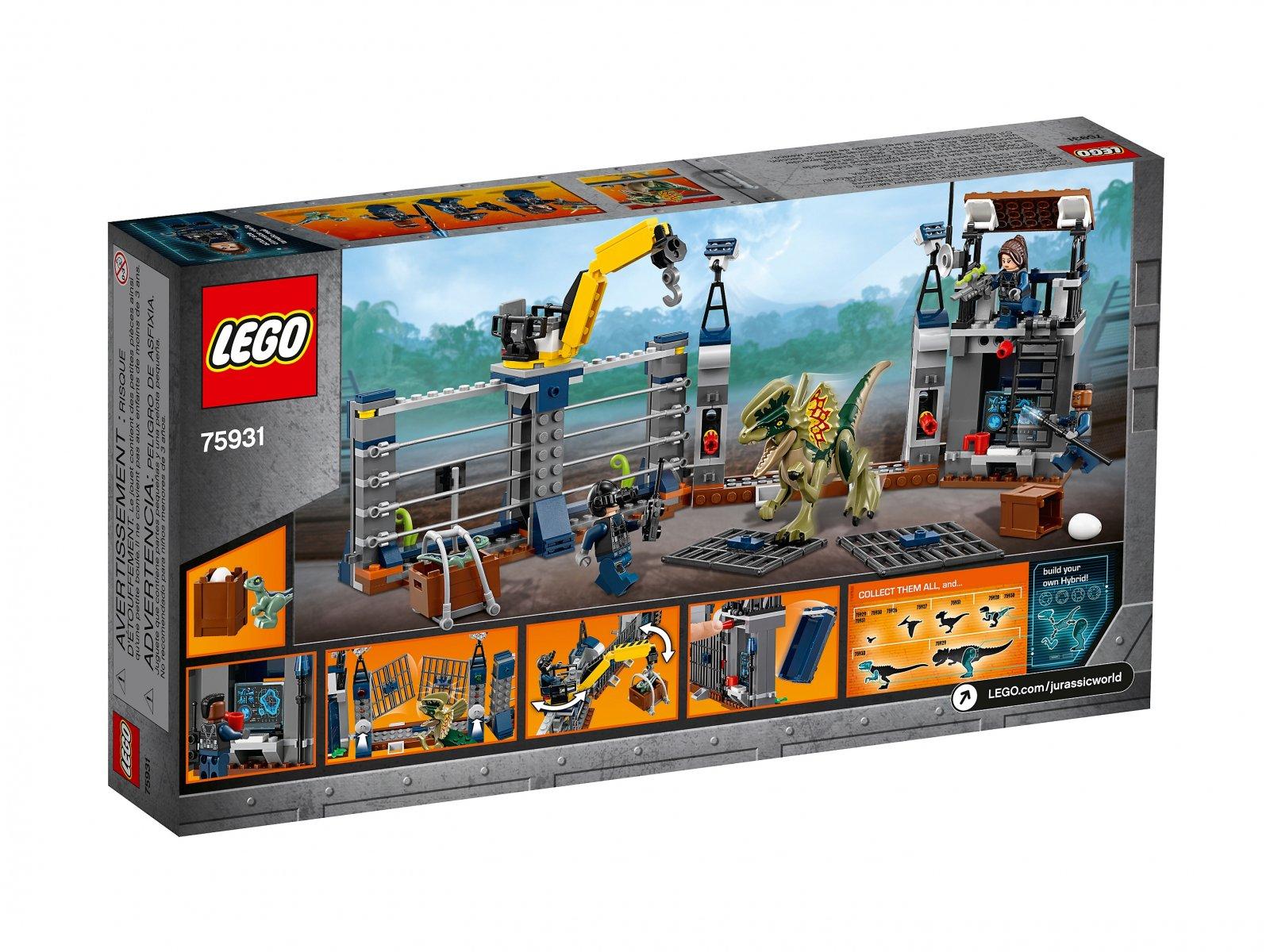 LEGO Jurassic World™ Atak dilofozaura na posterunek 75931
