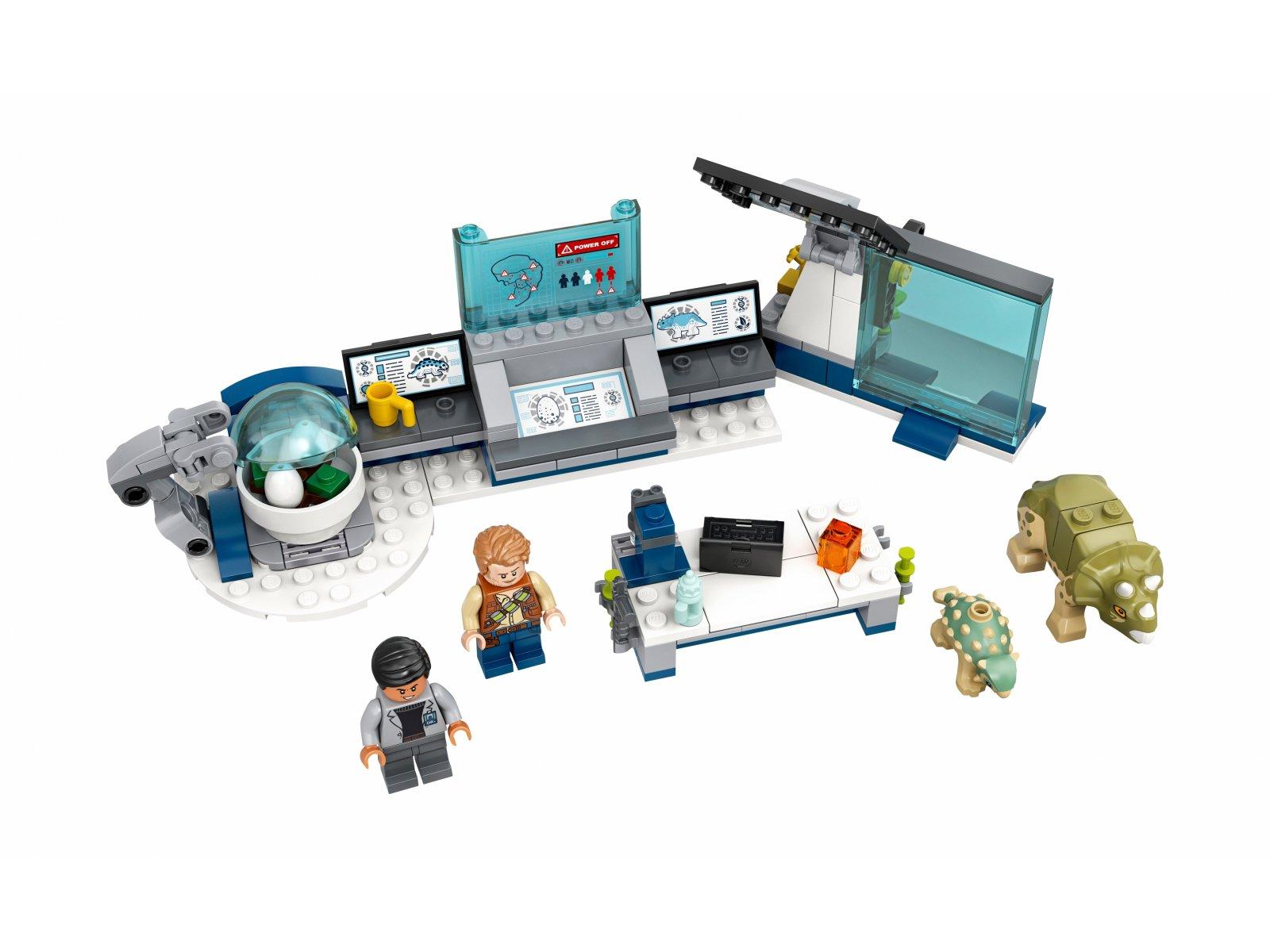 LEGO Jurassic World Laboratorium doktora Wu: ucieczka młodych dinozaurów 75939
