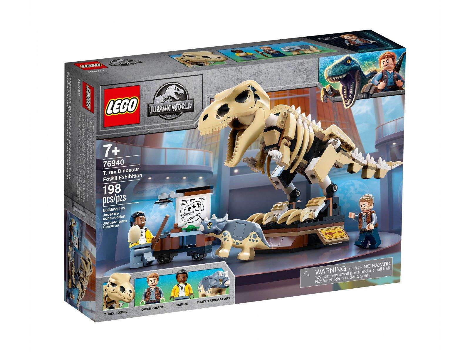 LEGO Jurassic World Wystawa skamieniałości tyranozaura 76940