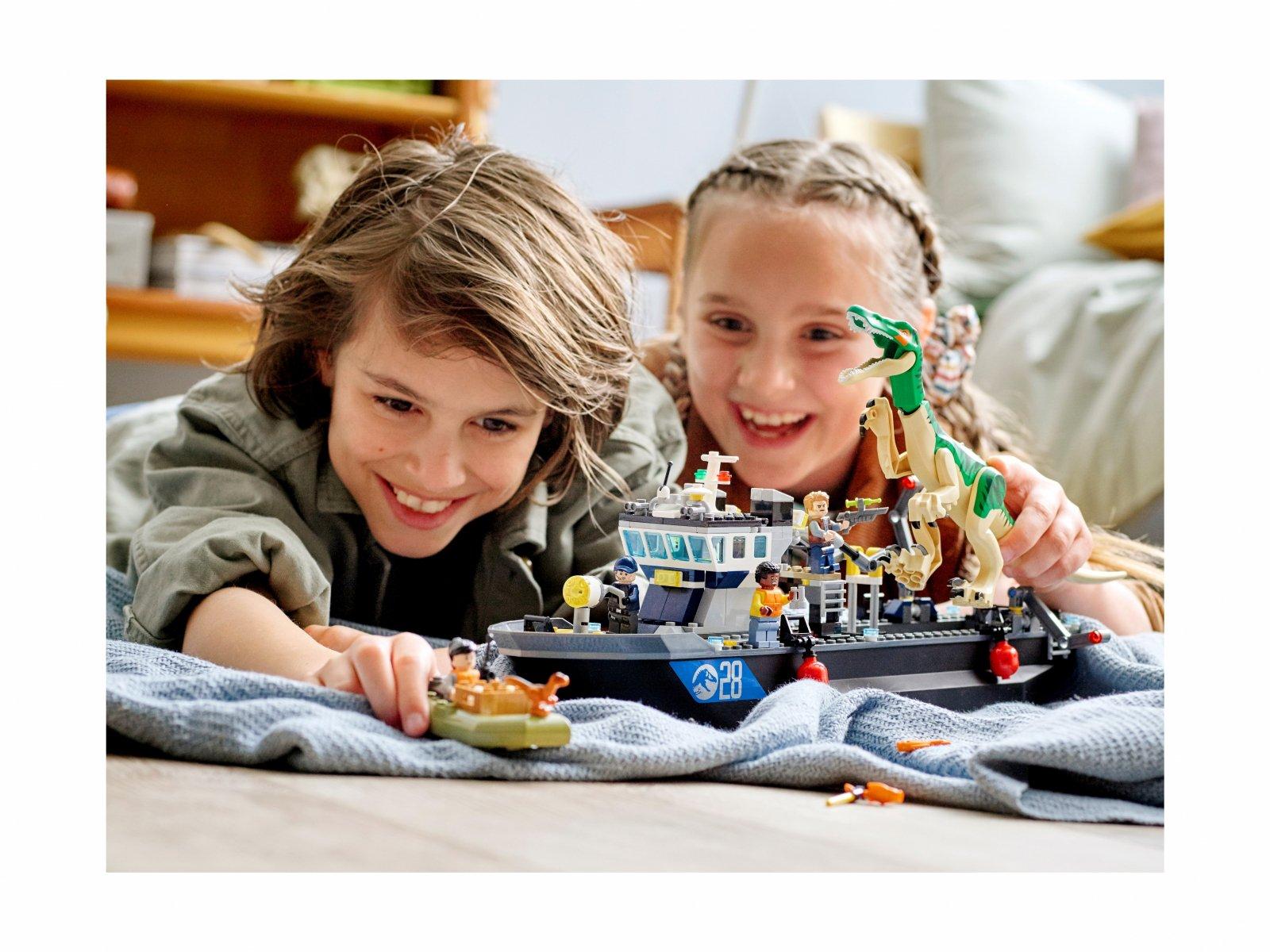 LEGO Jurassic World 76942 Barionyks i ucieczka łodzią