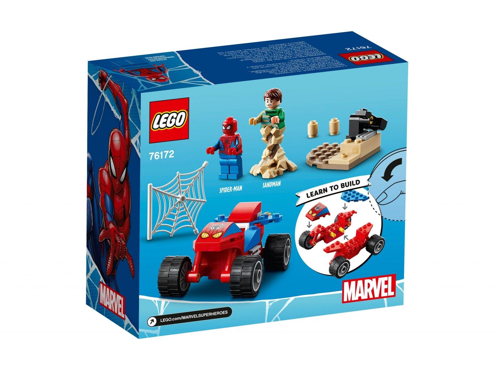 LEGO Marvel 76172 Pojedynek Spider-Mana z Sandmanem