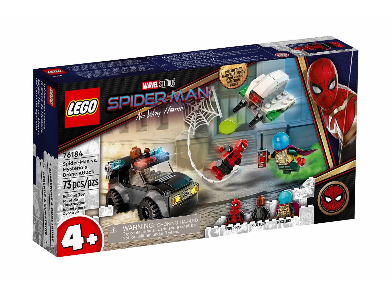 LEGO Marvel Spider-Man kontra Mysterio i jego dron 76184