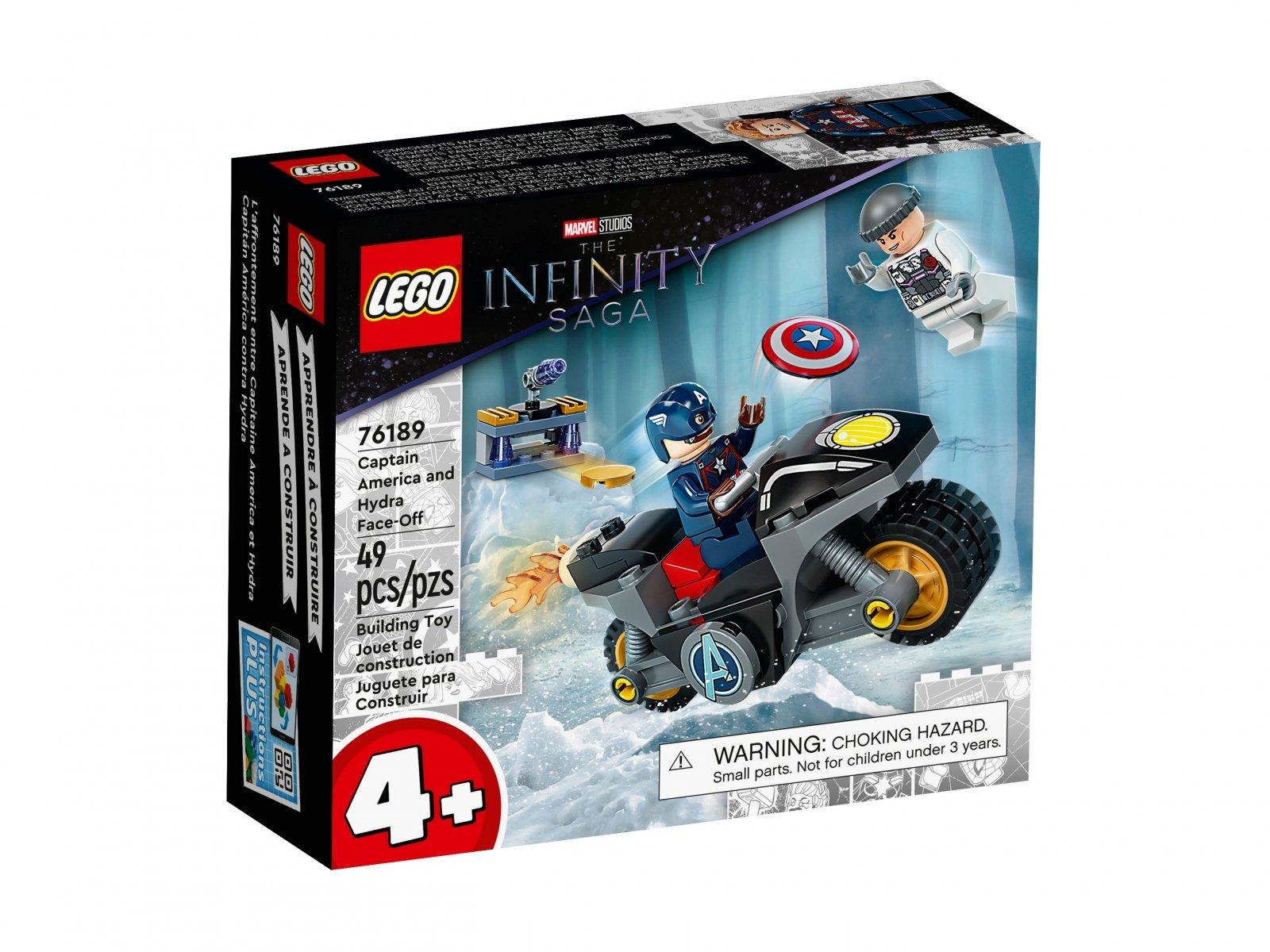 LEGO 76189 Kapitan Ameryka i pojedynek z Hydrą