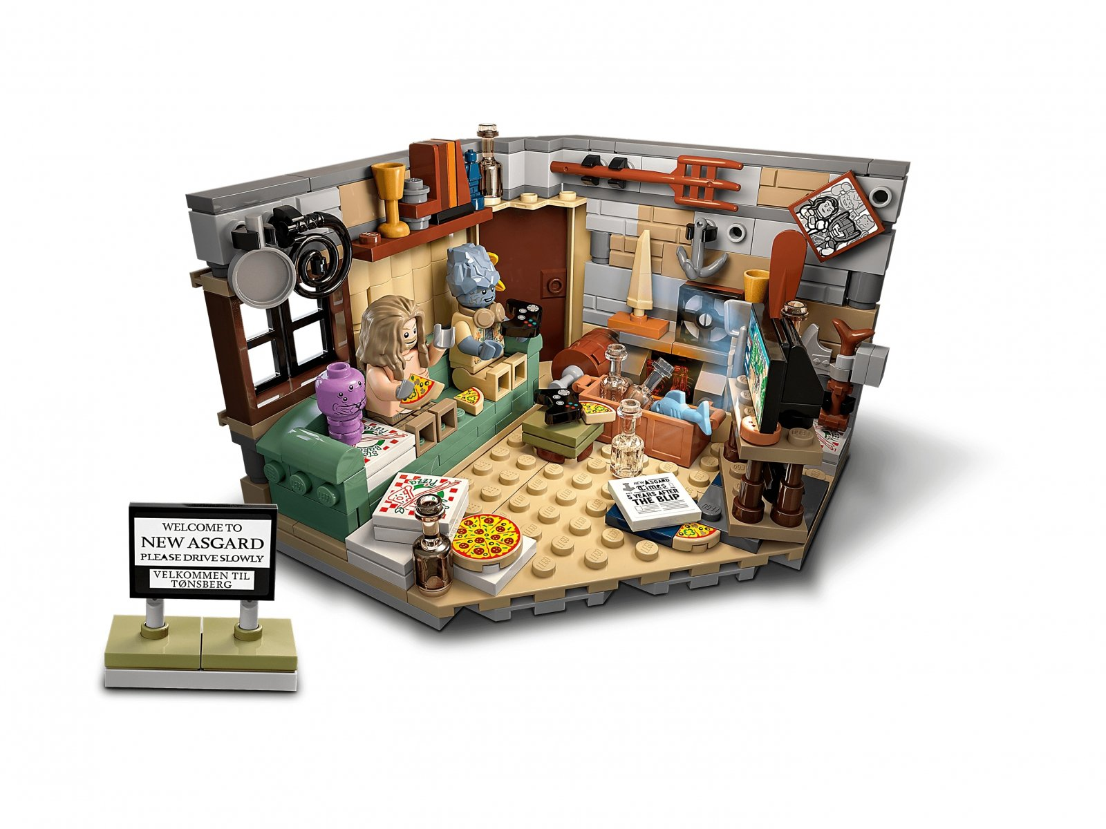 LEGO 76200 Marvel Nowy Asgard Grubego Thora