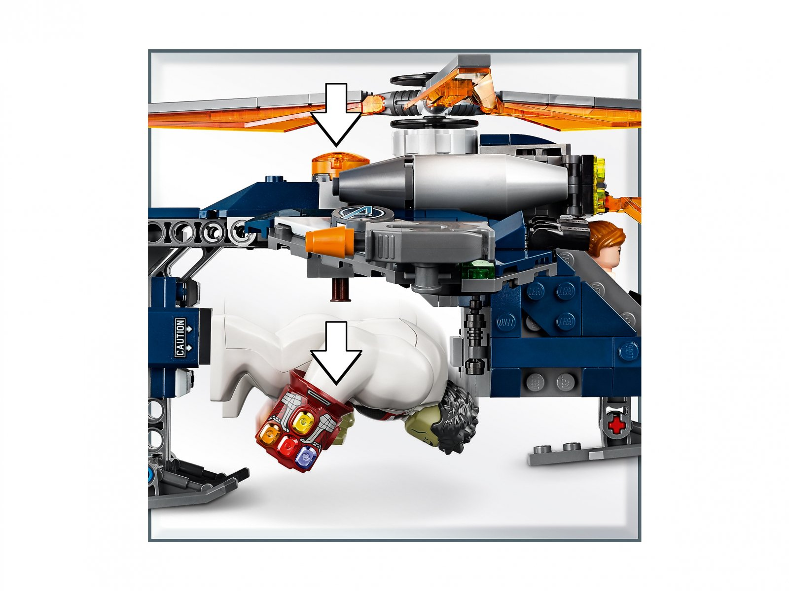 LEGO 76144 Marvel Avengers Avengers: Upadek helikoptera Hulka