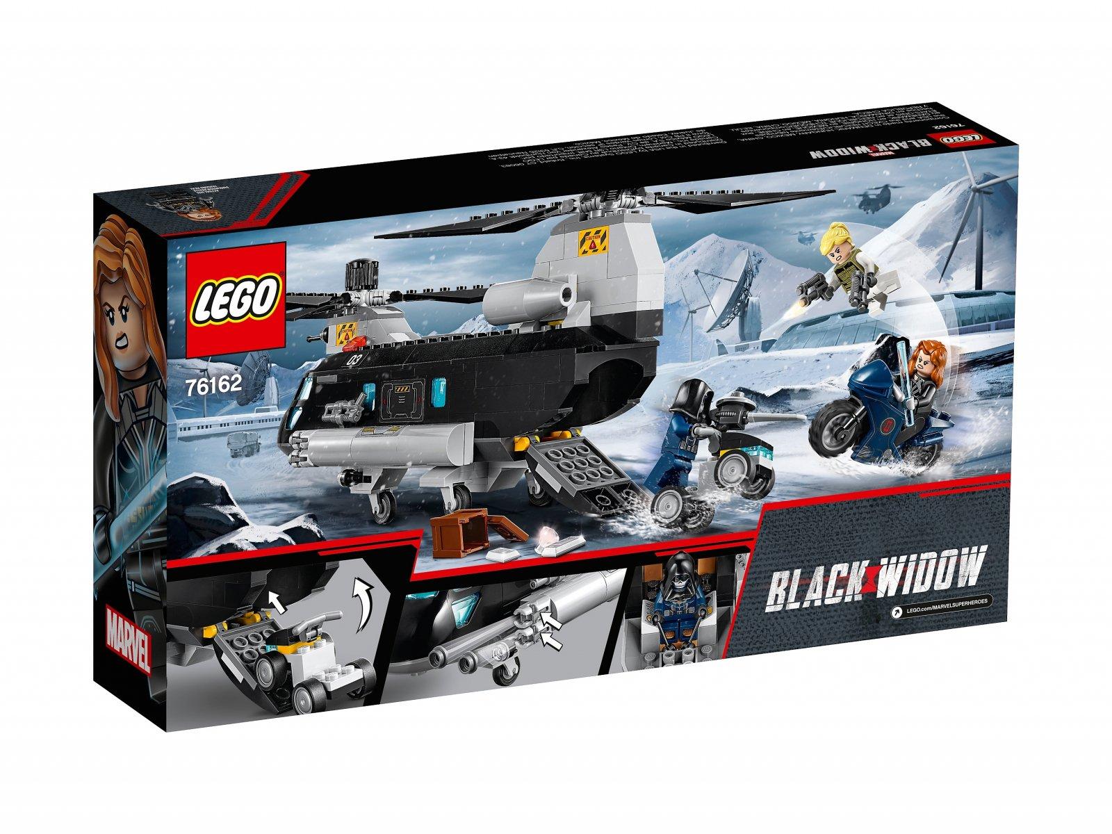 LEGO 76162 Marvel Avengers Czarna Wdowa i pościg helikopterem
