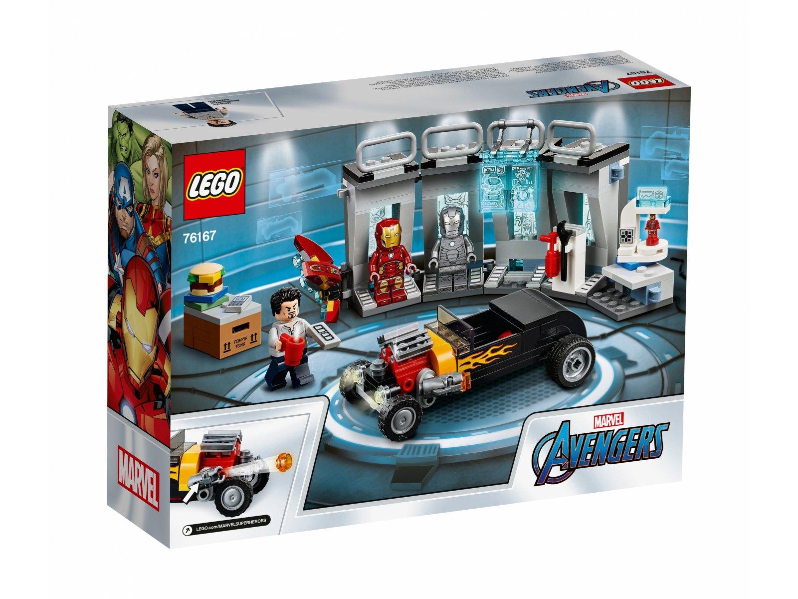 LEGO 76167 Marvel Avengers Zbrojownia Iron Mana