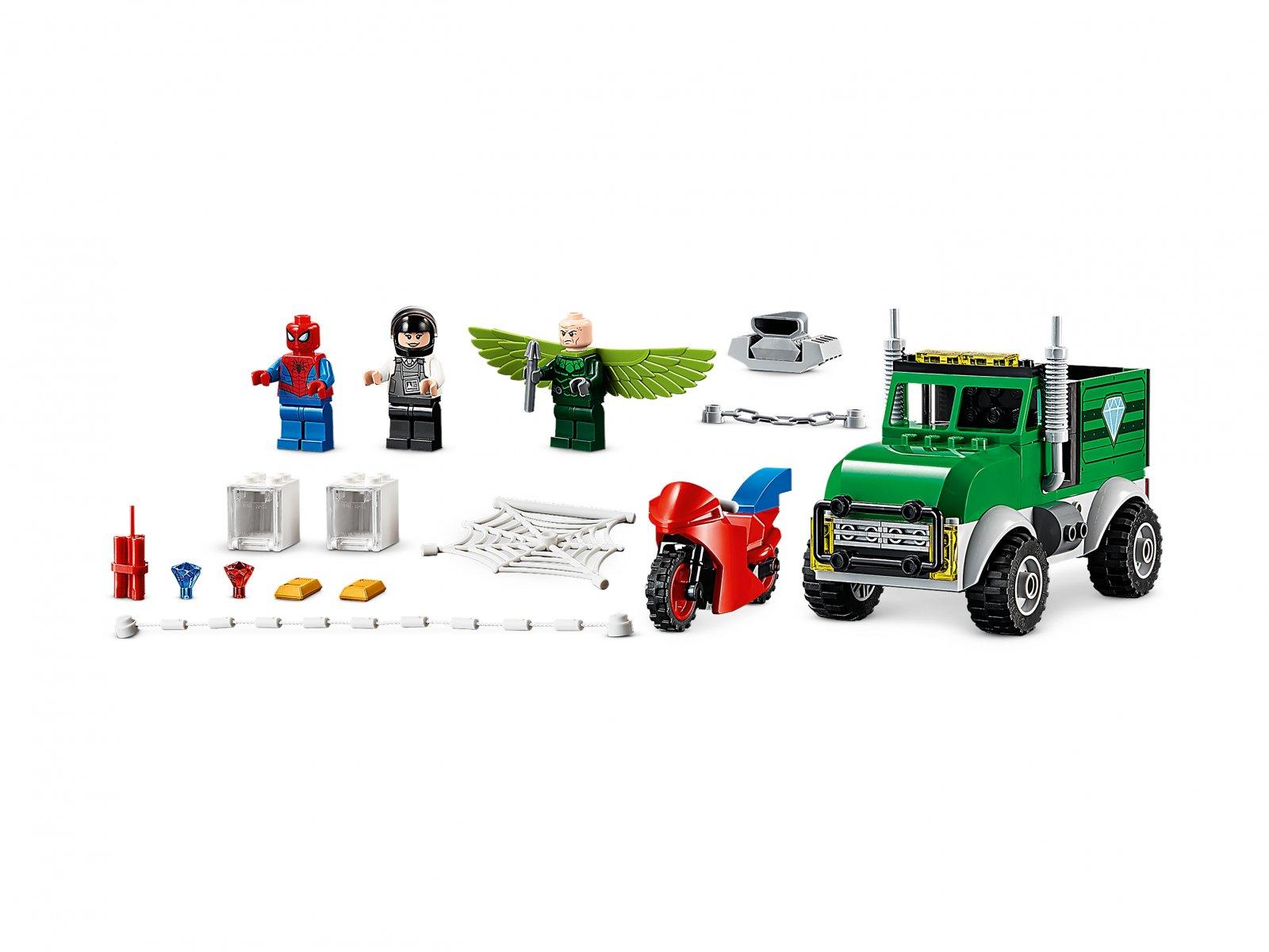 LEGO Marvel Spider-Man Napad Sępa na furgonetkę 76147