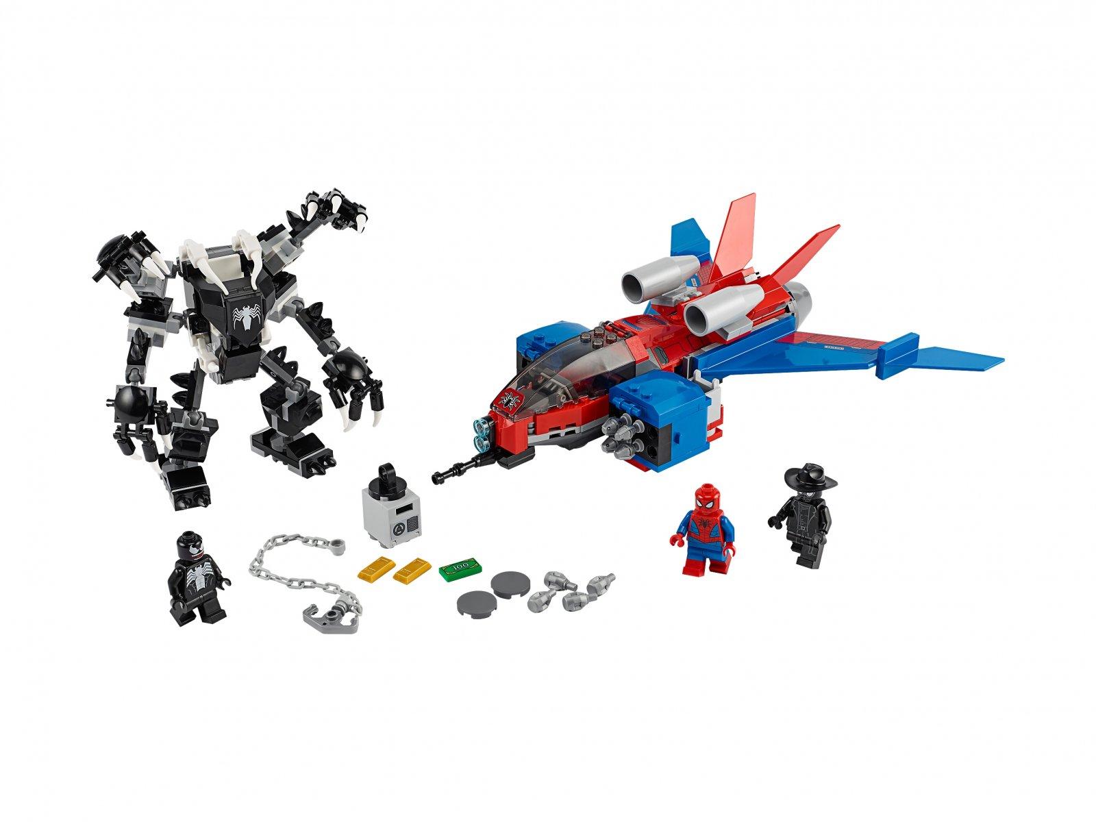 LEGO 76150 Marvel Spider-Man Pajęczy odrzutowiec kontra mech Venoma