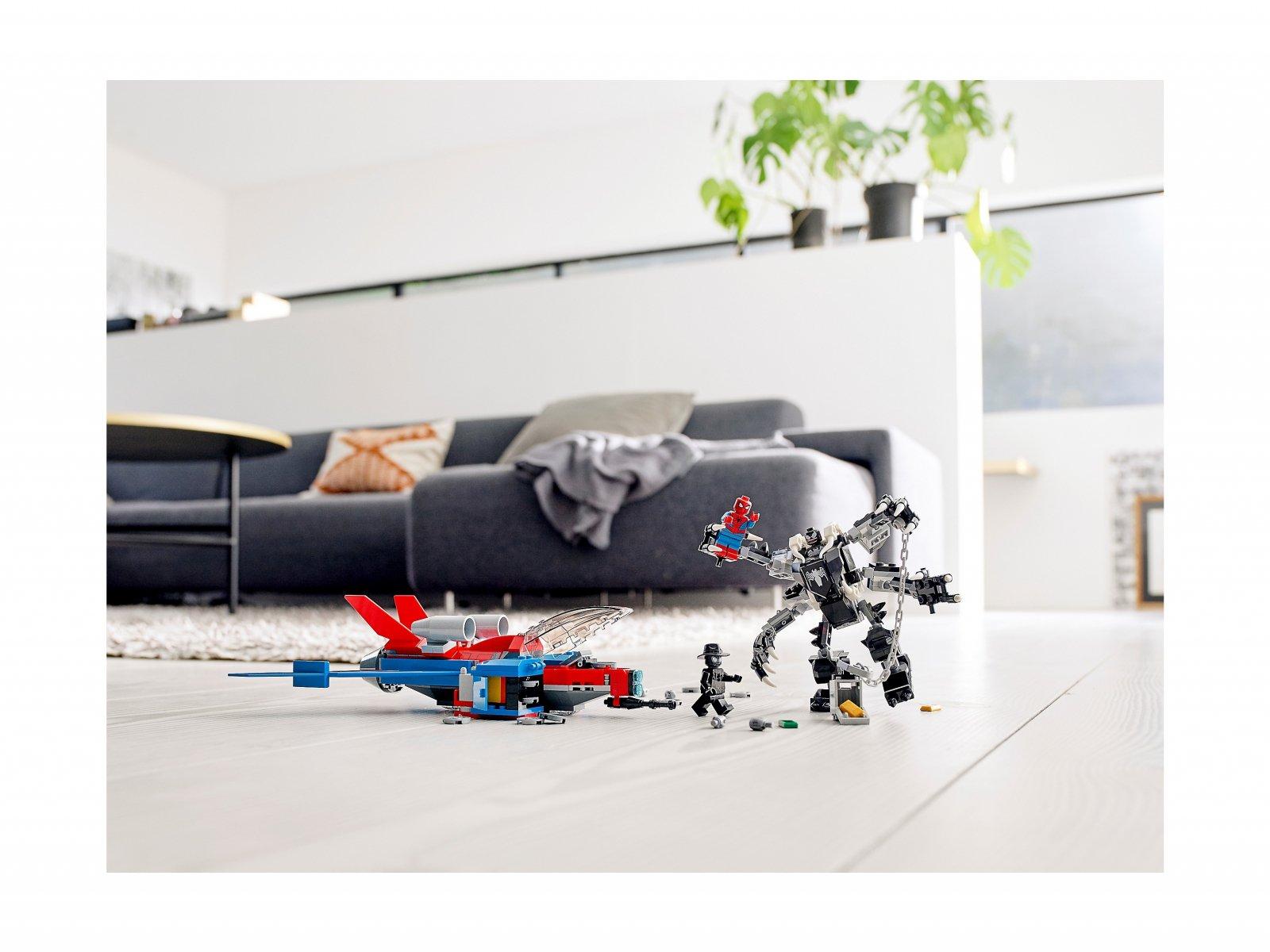LEGO Marvel Spider-Man 76150 Pajęczy odrzutowiec kontra mech Venoma