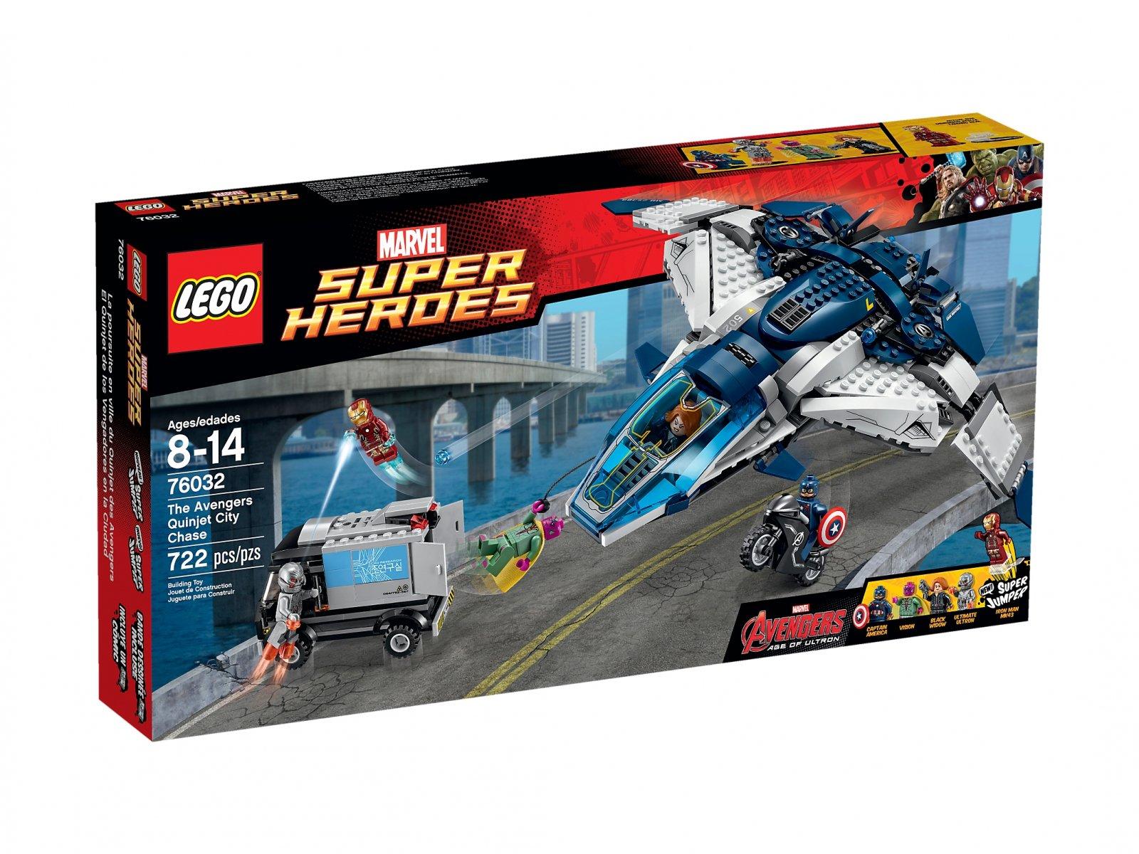 LEGO Marvel Super Heroes Pościg Avengersów w Quinjecie