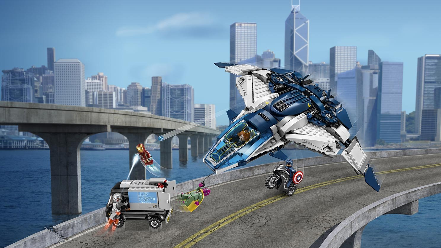 LEGO Marvel Super Heroes 76032 Pościg Avengersów w Quinjecie