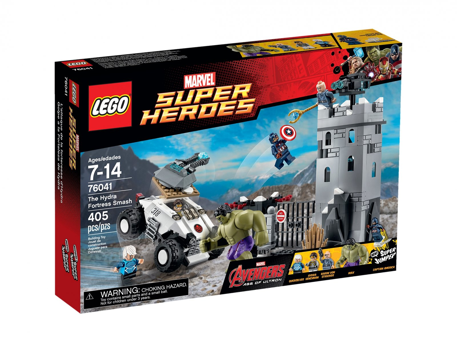 LEGO Marvel Super Heroes 76041 Demolka w Fortecy Hydry
