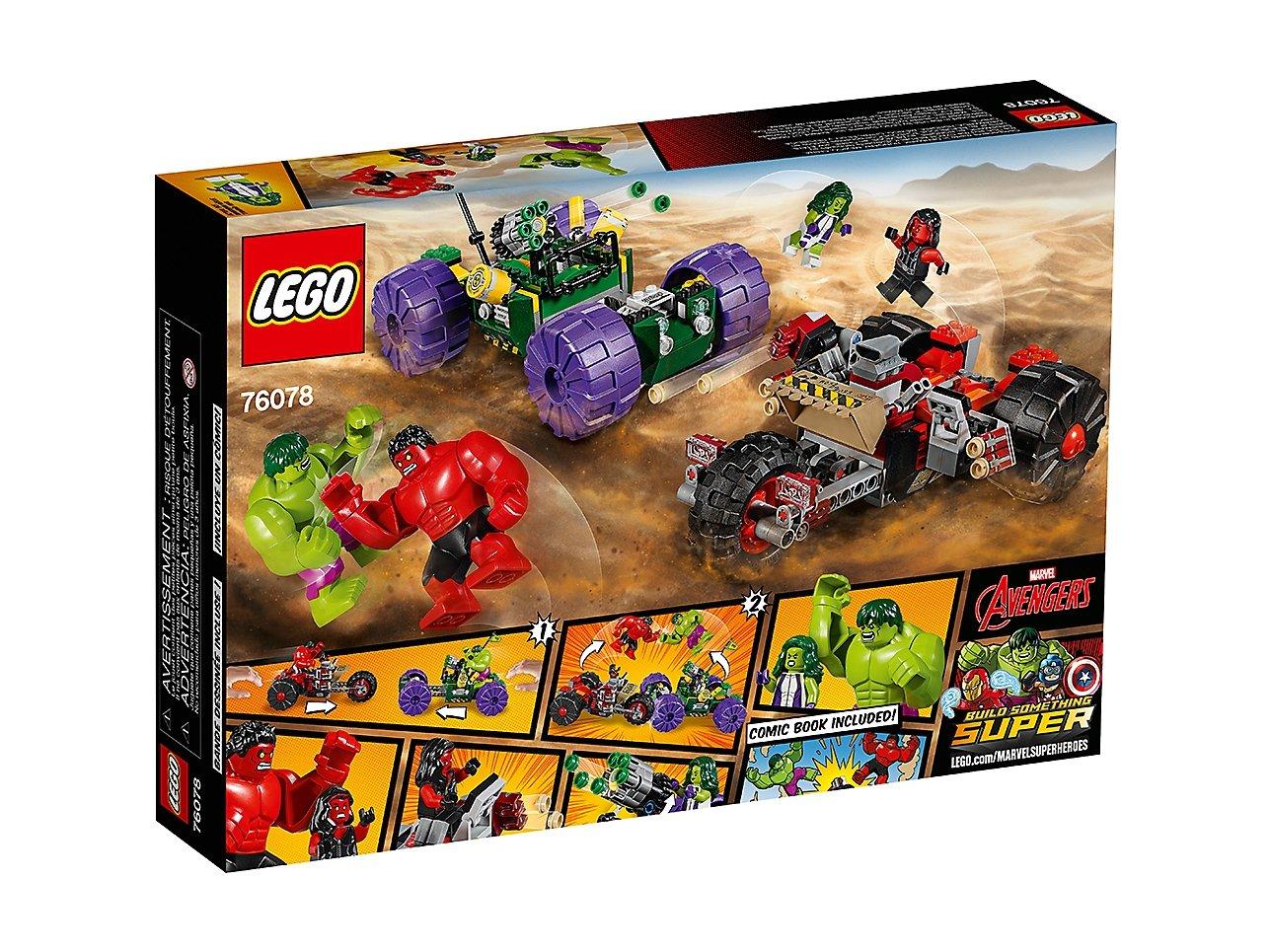 LEGO Marvel Super Heroes Hulk kontra Czerwony Hulk