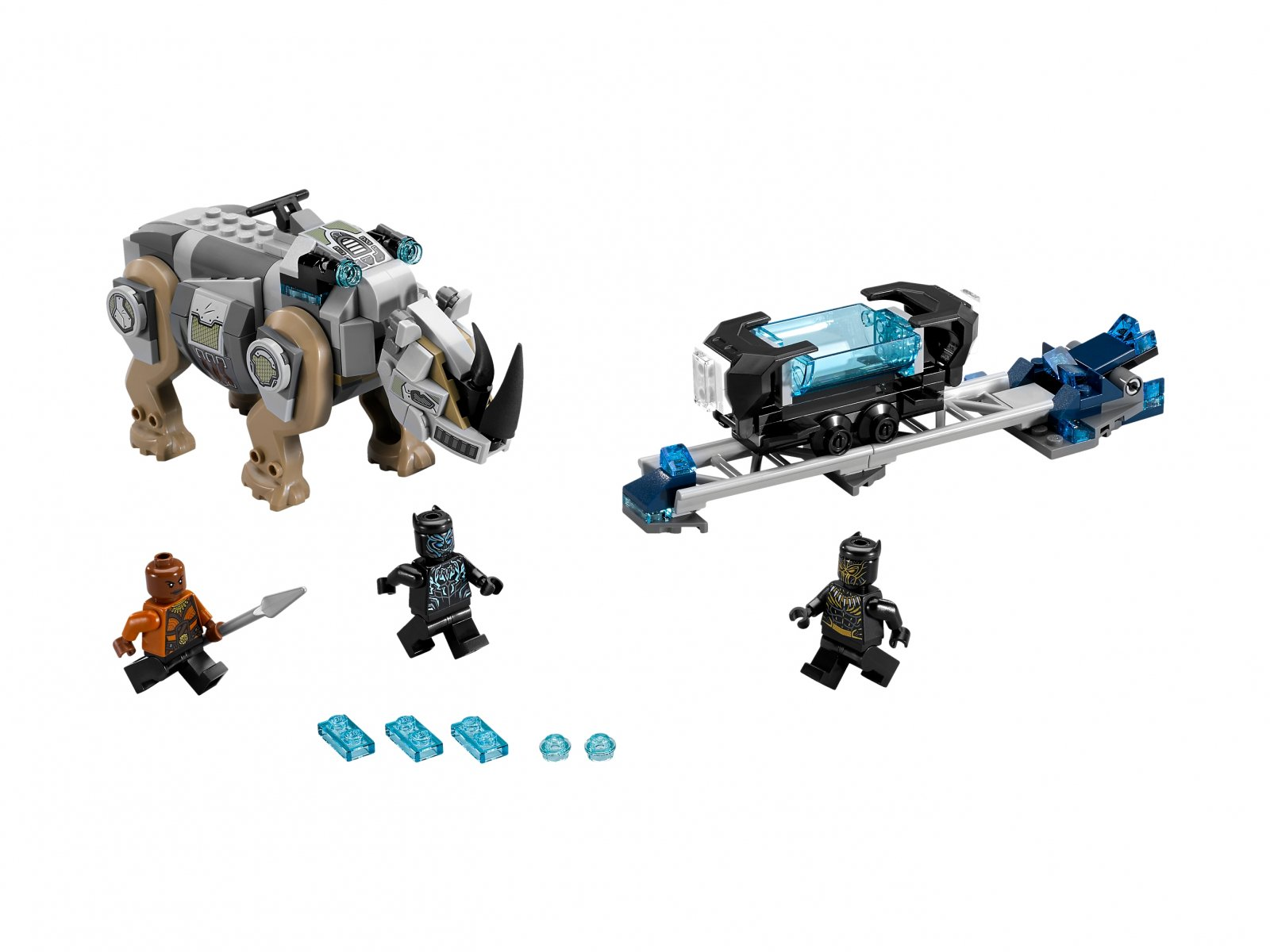 LEGO Marvel Super Heroes Pojedynek z nosorożcem w pobliżu kopalni 76099