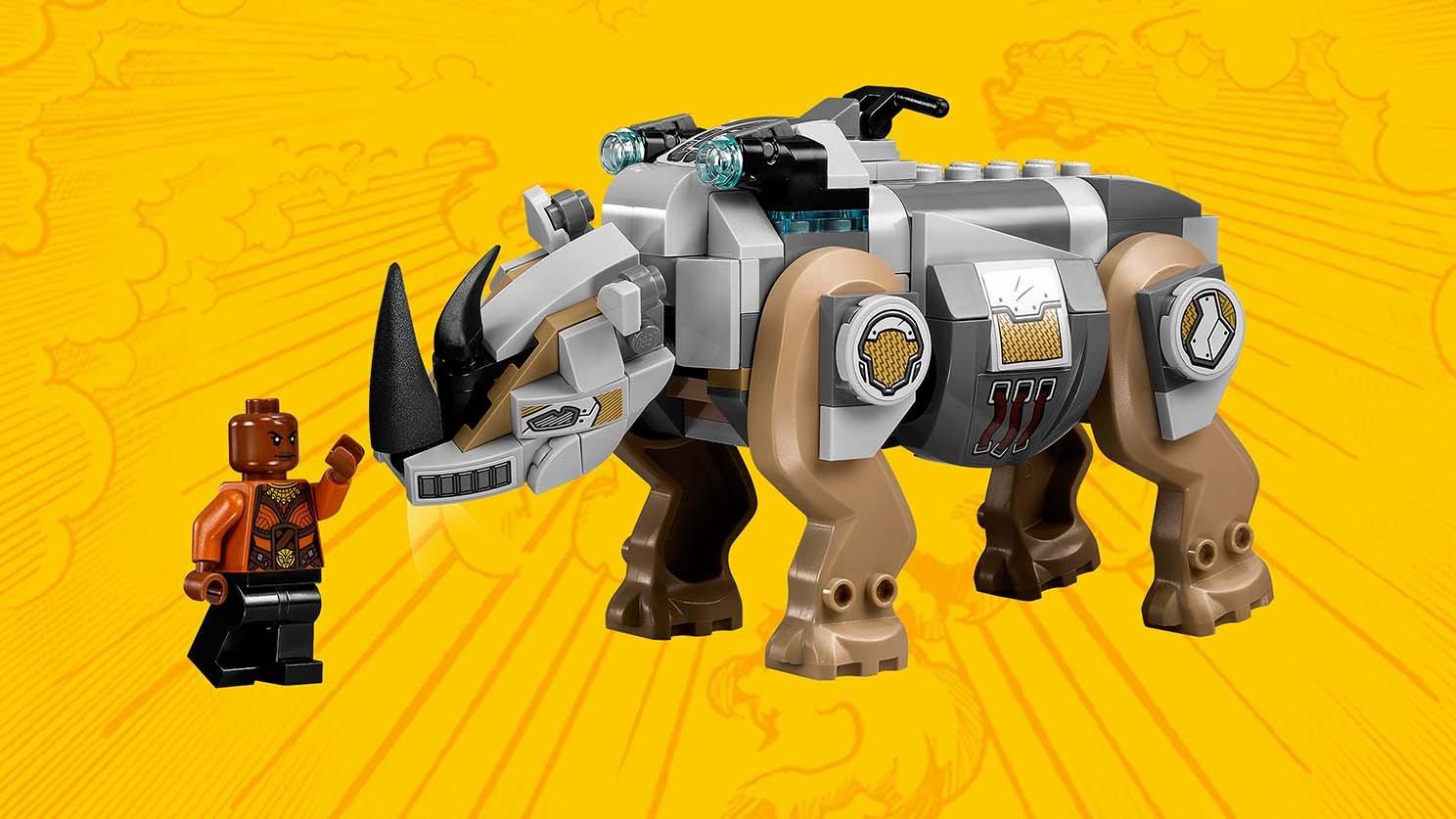 LEGO Marvel Super Heroes Pojedynek z nosorożcem w pobliżu kopalni