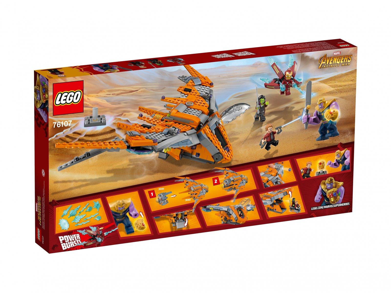 LEGO 76107 Thanos: ostateczna walka