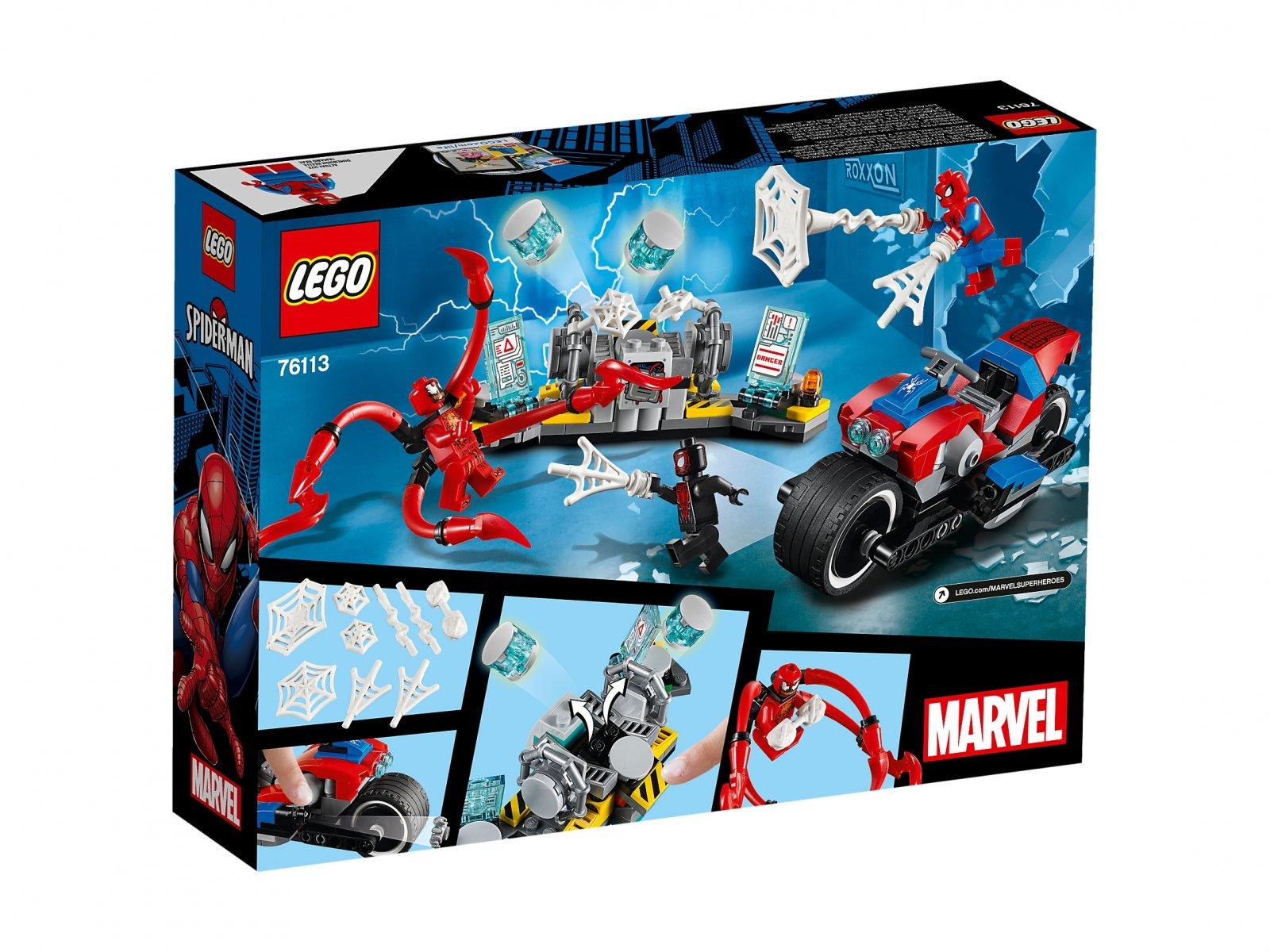 LEGO Marvel Super Heroes Pościg motocyklowy Spider-Mana 76113