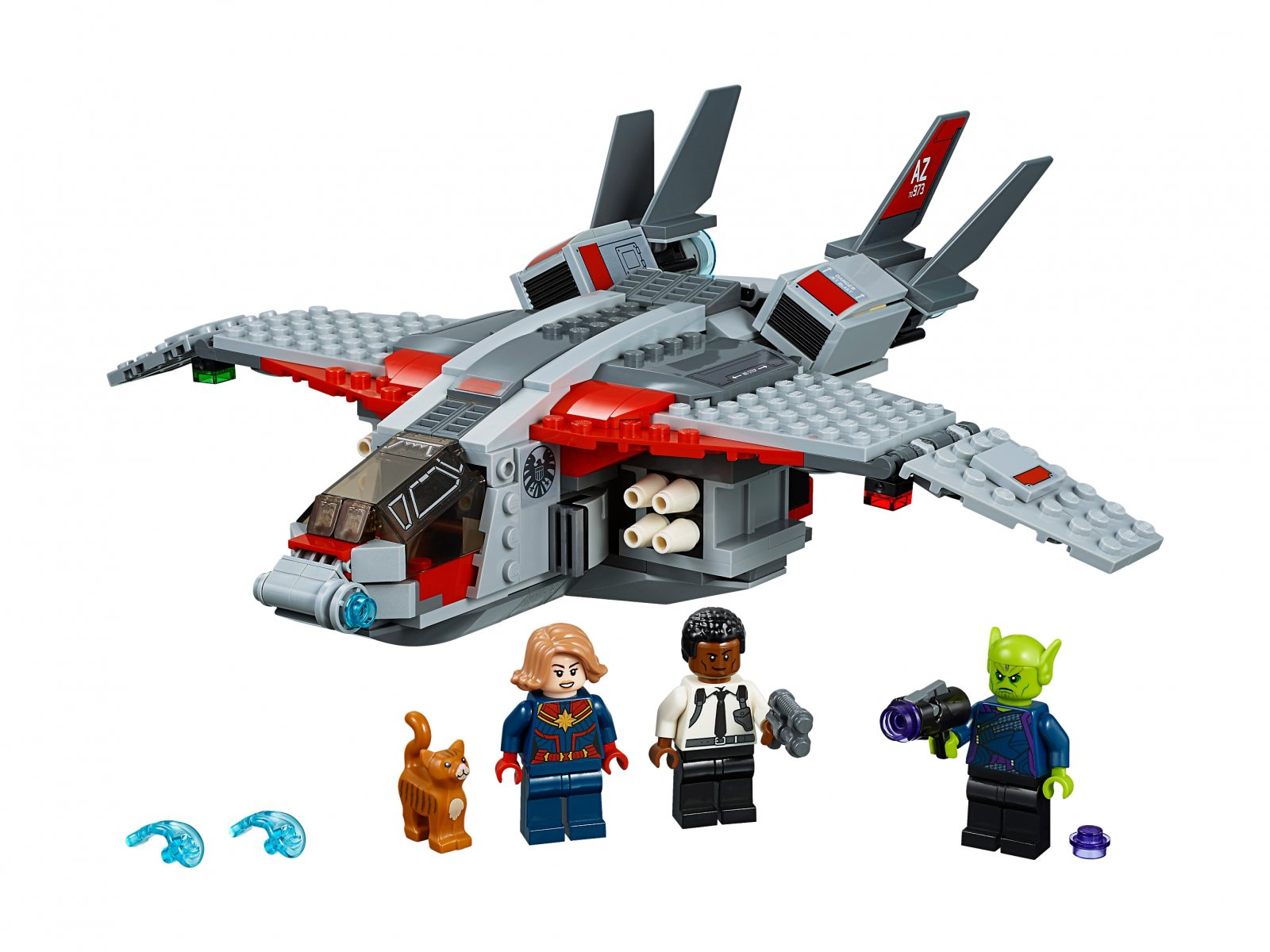 LEGO 76127 Marvel Super Heroes Kapitan Marvel i atak Skrullów