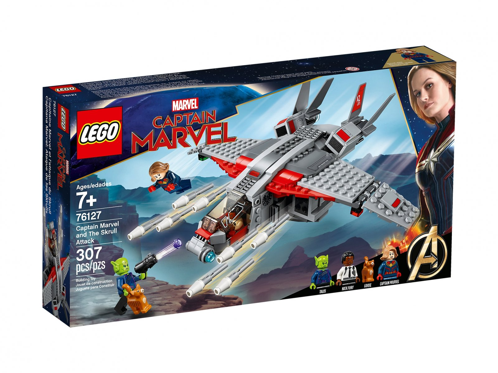 LEGO 76127 Kapitan Marvel i atak Skrullów