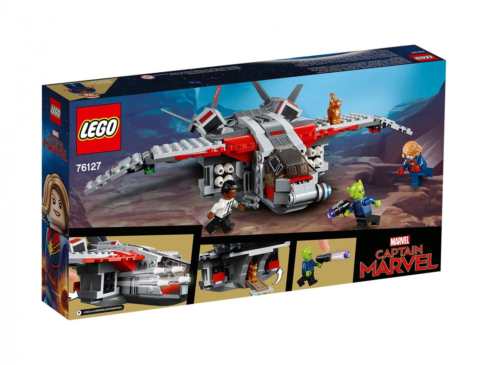 LEGO Marvel Super Heroes Kapitan Marvel i atak Skrullów