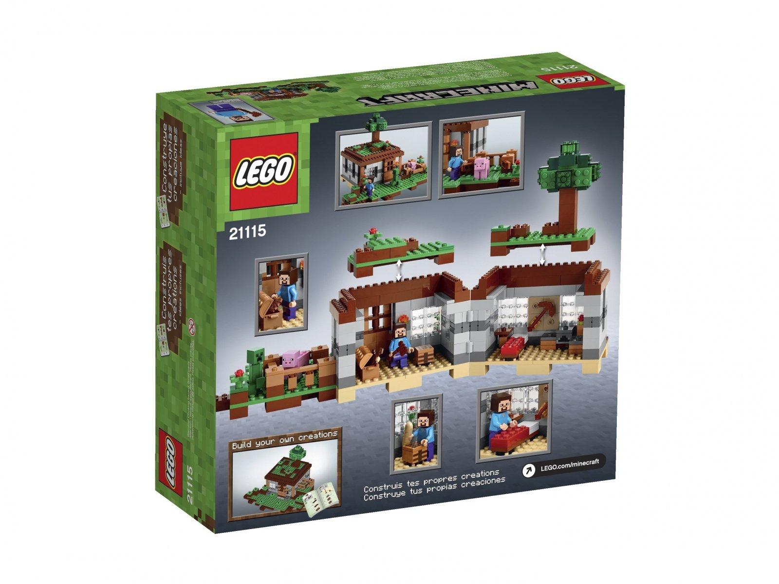 LEGO Minecraft Pierwsza noc 21115