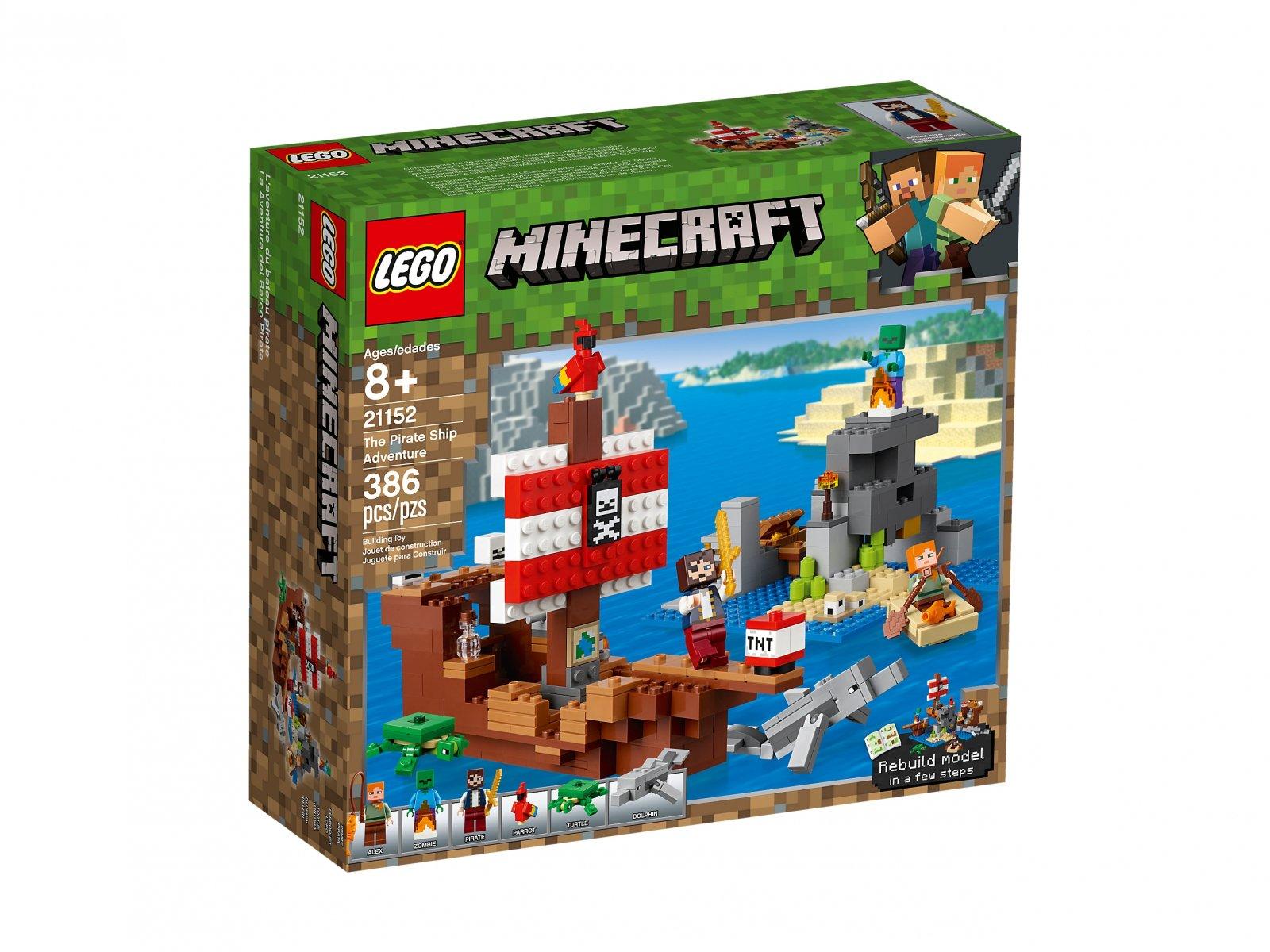 LEGO Minecraft™ Przygoda na statku pirackim