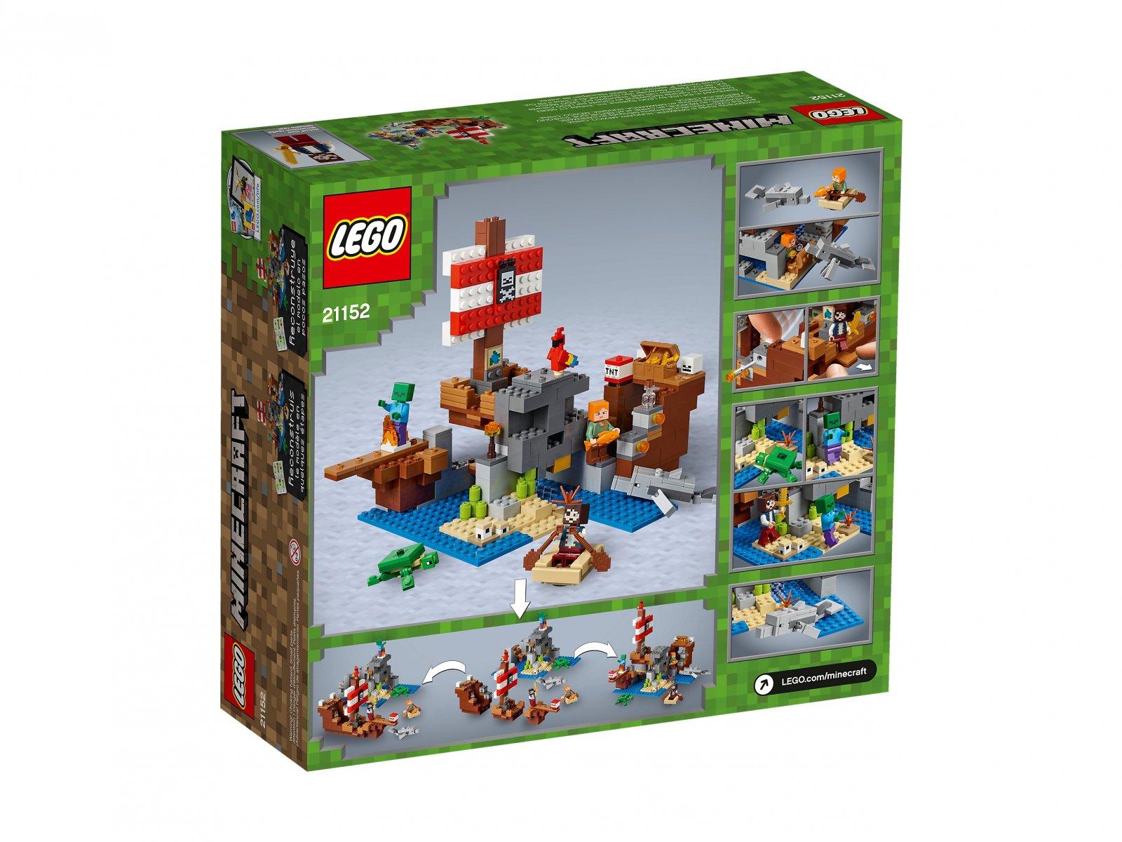 LEGO Minecraft™ 21152 Przygoda na statku pirackim