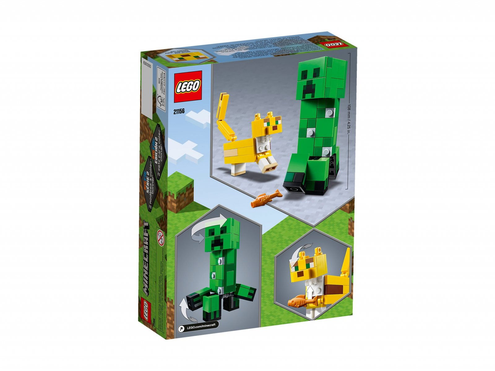 LEGO 21156 BigFig Creeper™ i Ocelot