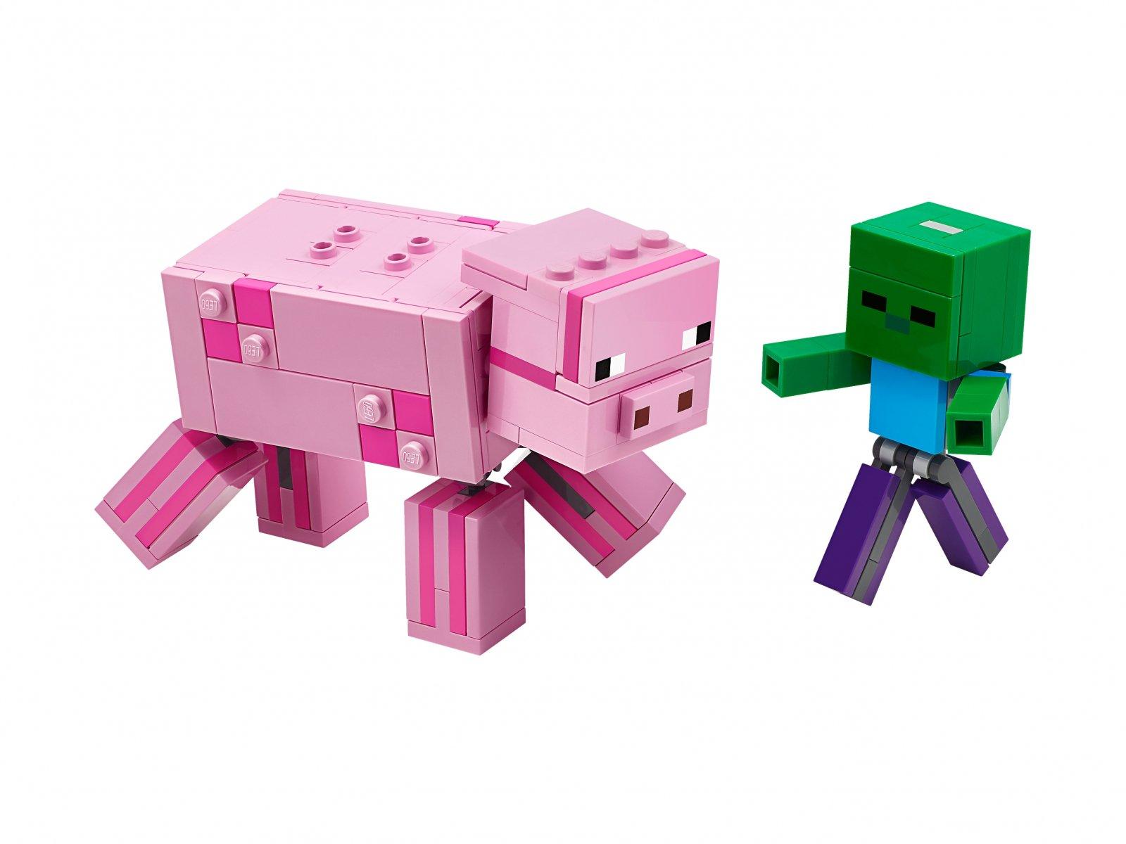 LEGO Minecraft™ 21157 Minecraft BigFig - Świnka i mały zombie