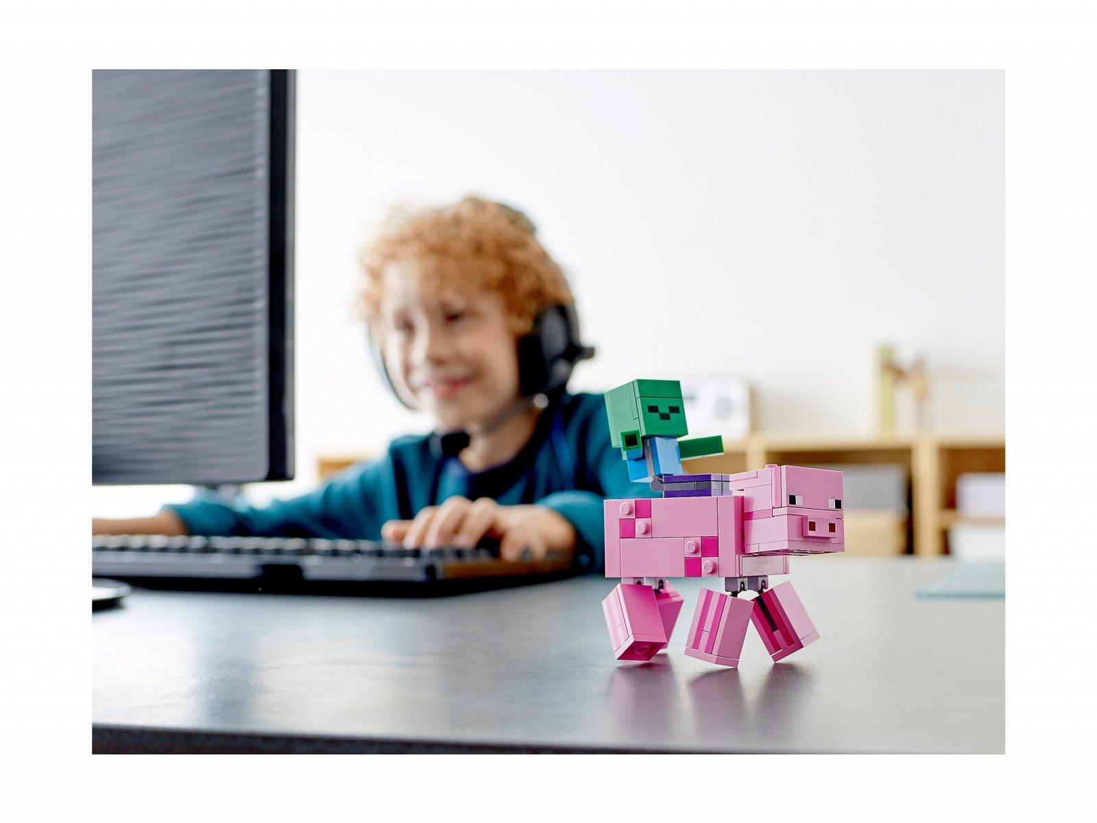 LEGO 21157 Minecraft™ Minecraft BigFig - Świnka i mały zombie