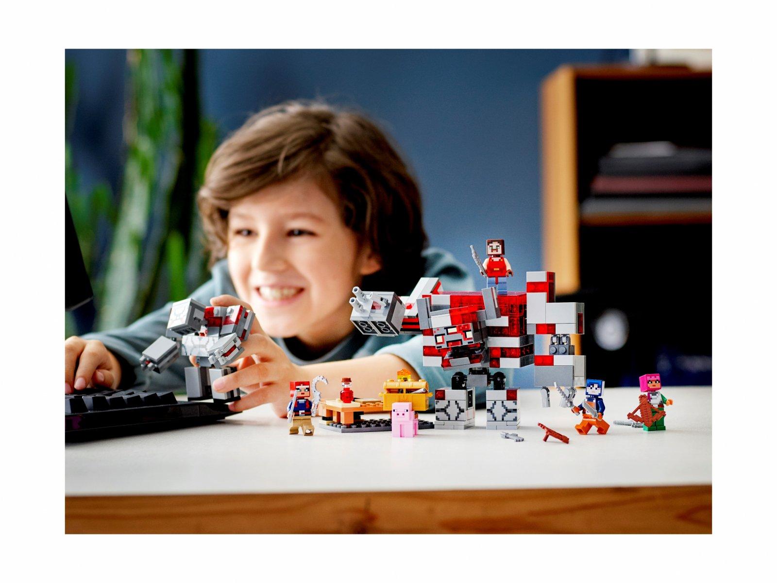 LEGO Minecraft™ 21163 Bitwa o czerwony kamień