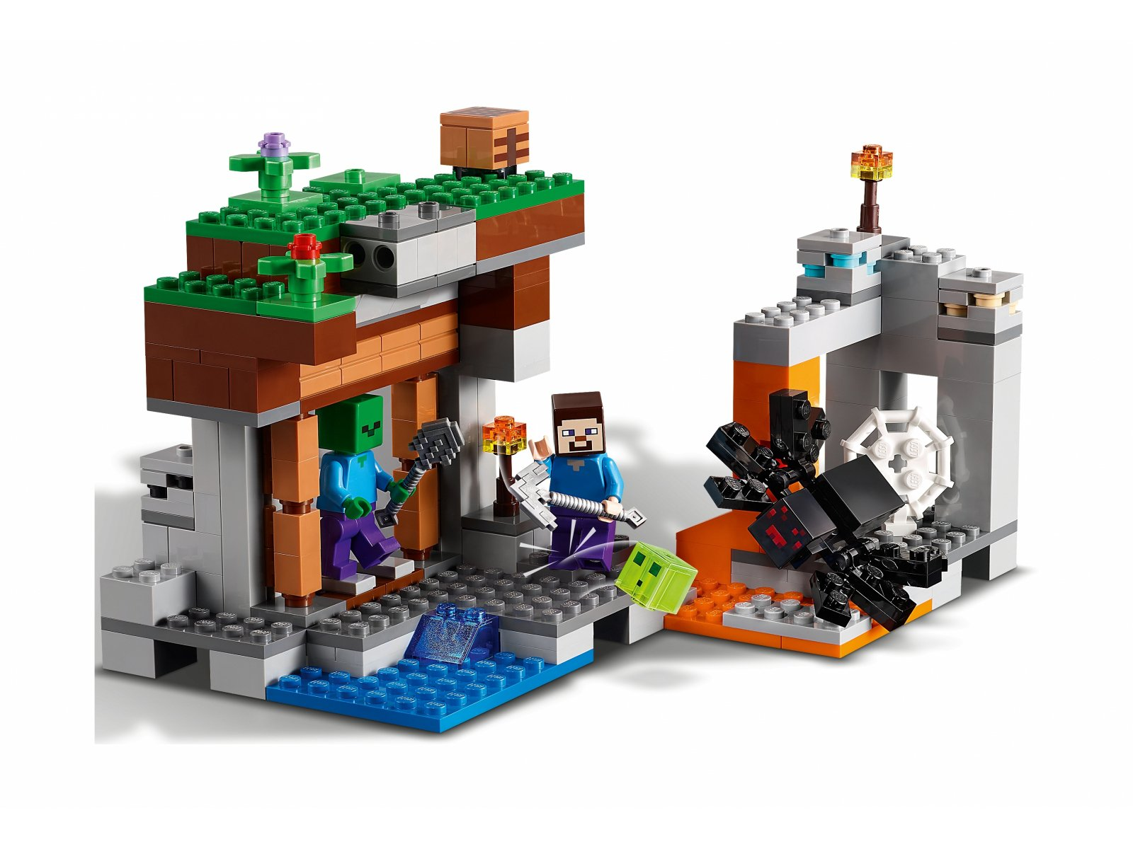 "LEGO Minecraft 21166 ""Opuszczona"" kopalnia"